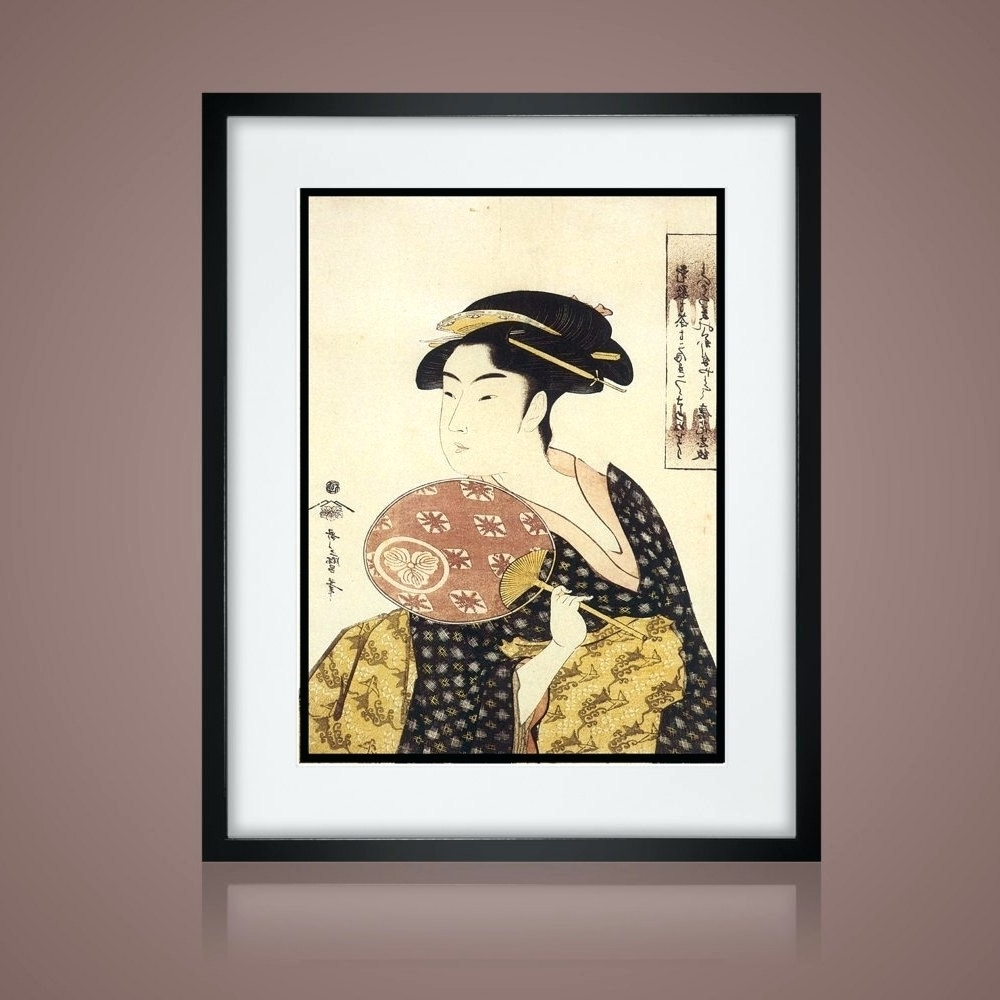 Wall Arts ~ Chinese Zodiac Horse Asian Wall Art Asian Art Print Intended  For Preferred Framed