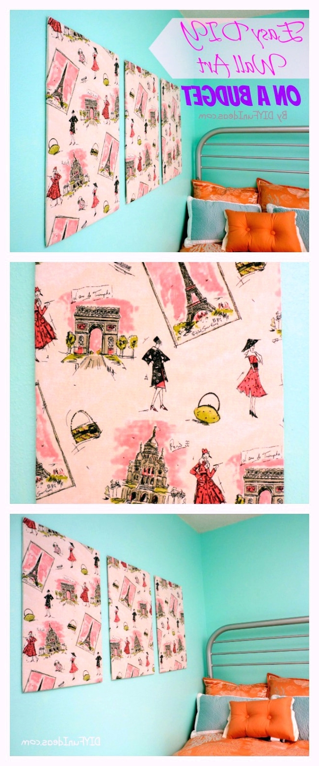 Wall Arts ~ Diy Fabric Covered Wall Art Framed Fabric Wall Art Diy With Fashionable Fabric Covered Squares Wall Art (View 14 of 15)