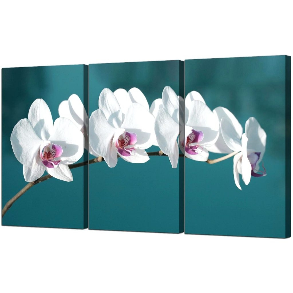 Wall Arts ~ Floral Row Canvas Wall Art Brown Floral Canvas Art For Most Current Orchid Canvas Wall Art (View 2 of 15)