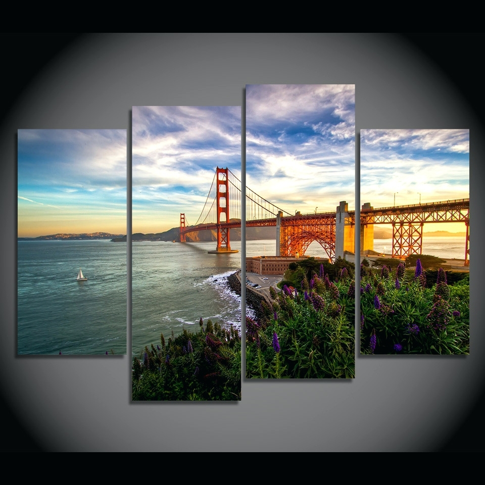 Wall Arts ~ Golden Gate Bridge Wall Canvas Golden Gate Bridge Intended For Preferred Golden Gate Bridge Canvas Wall Art (View 10 of 15)