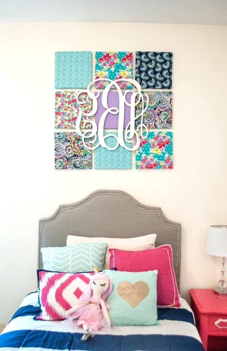 Wall Arts ~ How To Make Large Fabric Panel Wall Art Fabric Panel Within Recent Styrofoam Fabric Wall Art (View 3 of 15)