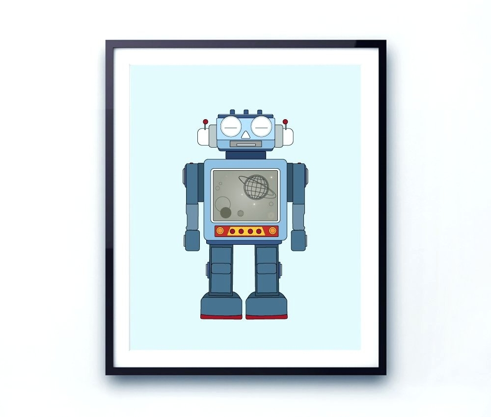 Wall Arts ~ Robot Canvas Wall Art Target Robot Wall Art Robot Wall Throughout Most Recently Released Robot Canvas Wall Art (View 12 of 15)