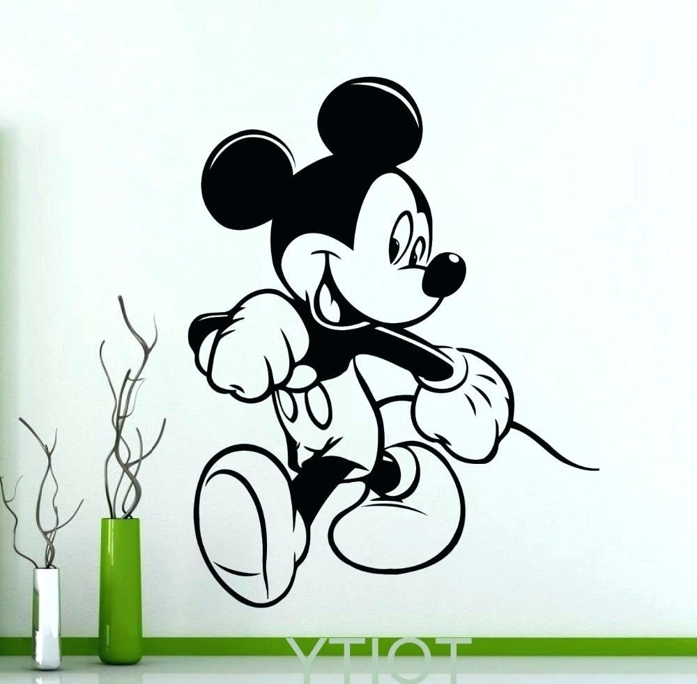 Wall Arts ~ Zoom Mickey Mouse Canvas Wall Art Mickey Mouse For Latest Mickey Mouse Canvas Wall Art (View 13 of 15)