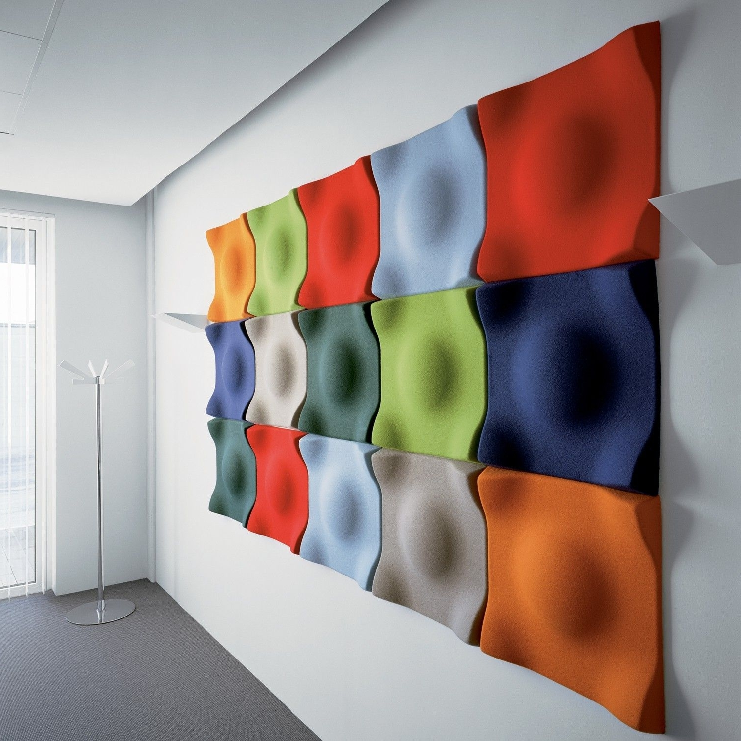 Wall Decor : Acoustic Cladding Panels Melamine Acoustic Foam Intended For Well Liked Fabric Covered Foam Wall Art (View 12 of 15)