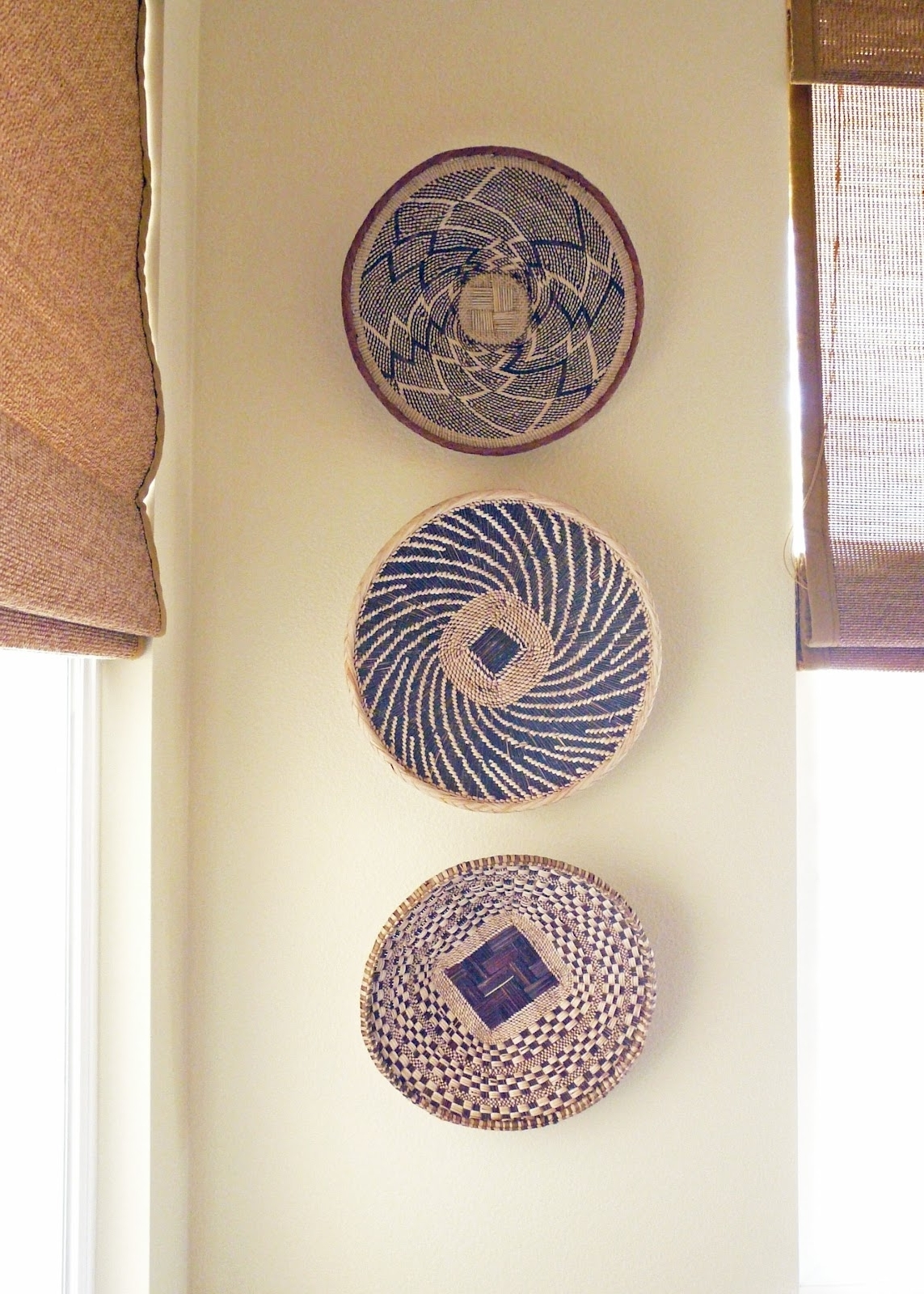 Wall Decor: Good Look Baskets As Wall Decor Woven Wall Baskets Within Most Recent African Wall Accents (View 4 of 15)