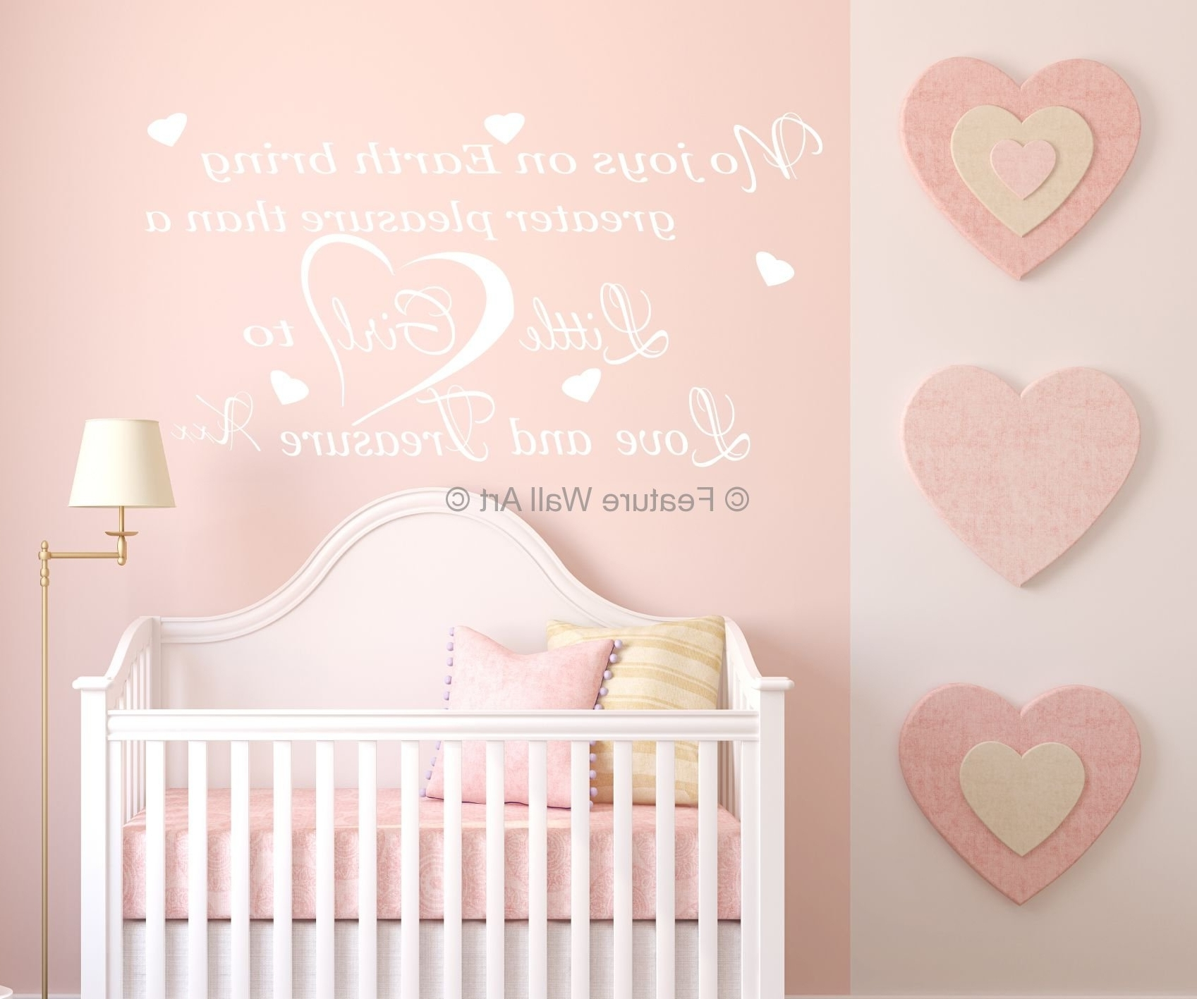 Wall Decorations For Baby Girl Room • Walls Decor With Newest Girl Nursery Wall Accents (View 14 of 15)