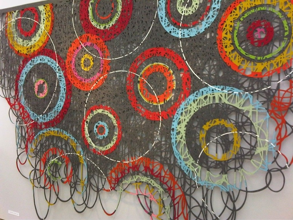 Wall Hangingmay Bente Aronsen Abstract Contemporary Modern Within Current Fabric Art Wall Hangings (View 12 of 15)