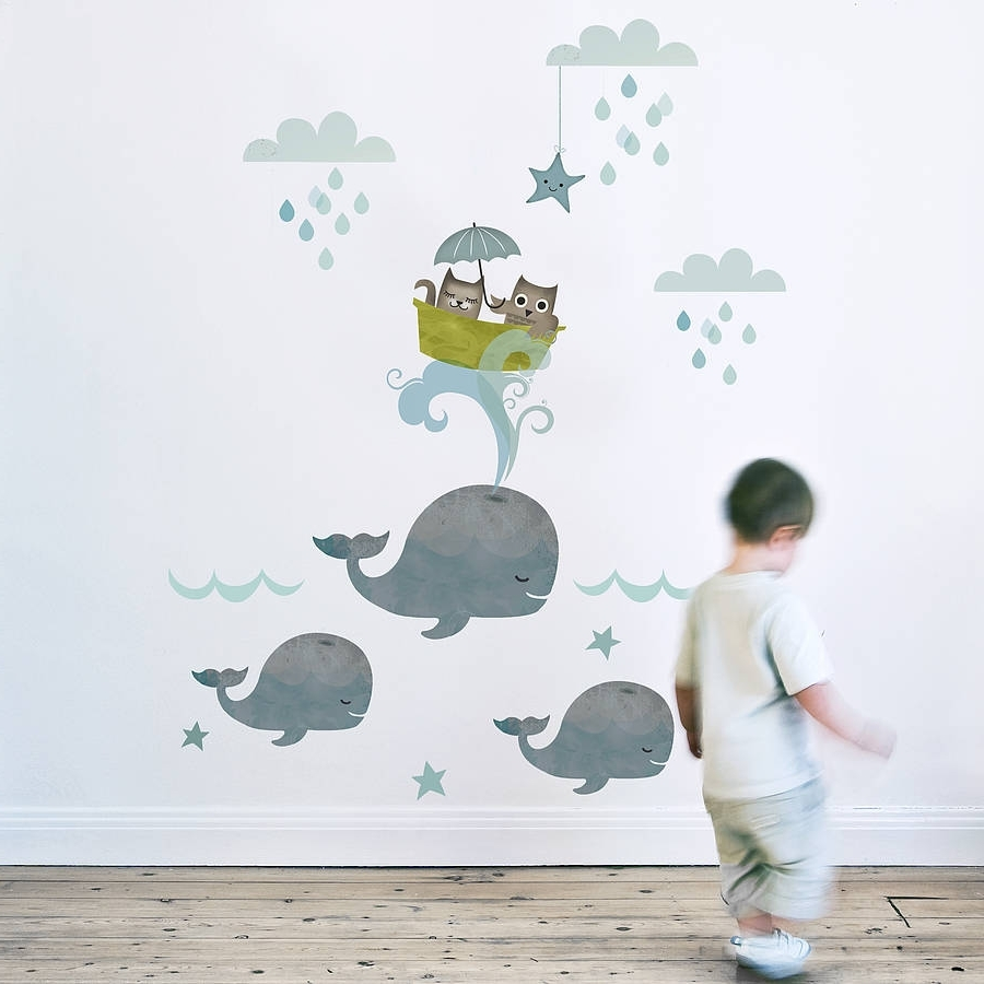 Wall Sticker, Nursery And For Popular Nursery Fabric Wall Art (View 14 of 15)