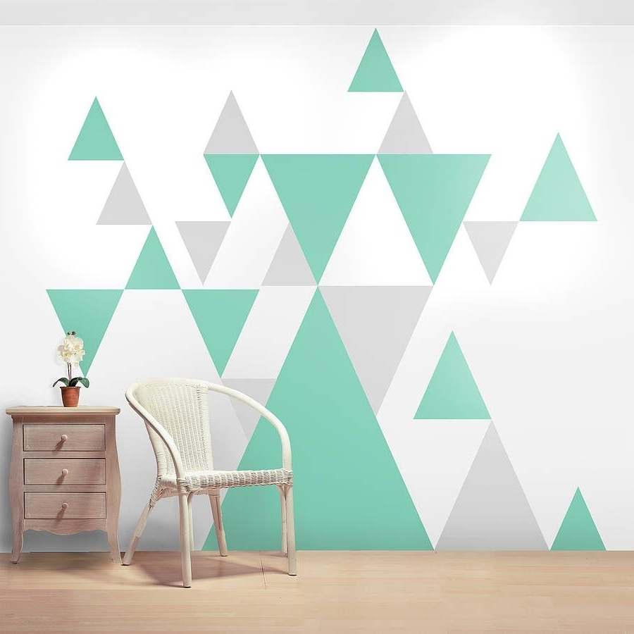 Wall Sticker, Wall With Regard To Widely Used Geometric Shapes Wall Accents (View 15 of 15)