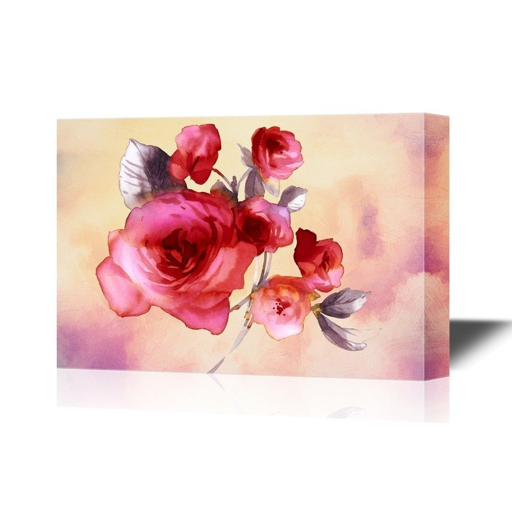 Wall26 – Art Prints – Framed Art – Canvas Prints – Greeting Regarding Most Popular Roses Canvas Wall Art (View 15 of 15)