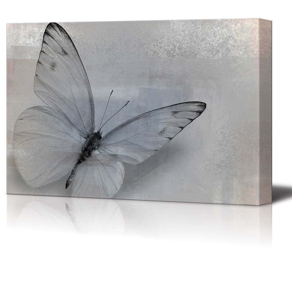 Wall26 – Art Prints – Framed Art – Canvas Prints – Greeting With Regard To Trendy Butterflies Canvas Wall Art (View 15 of 15)
