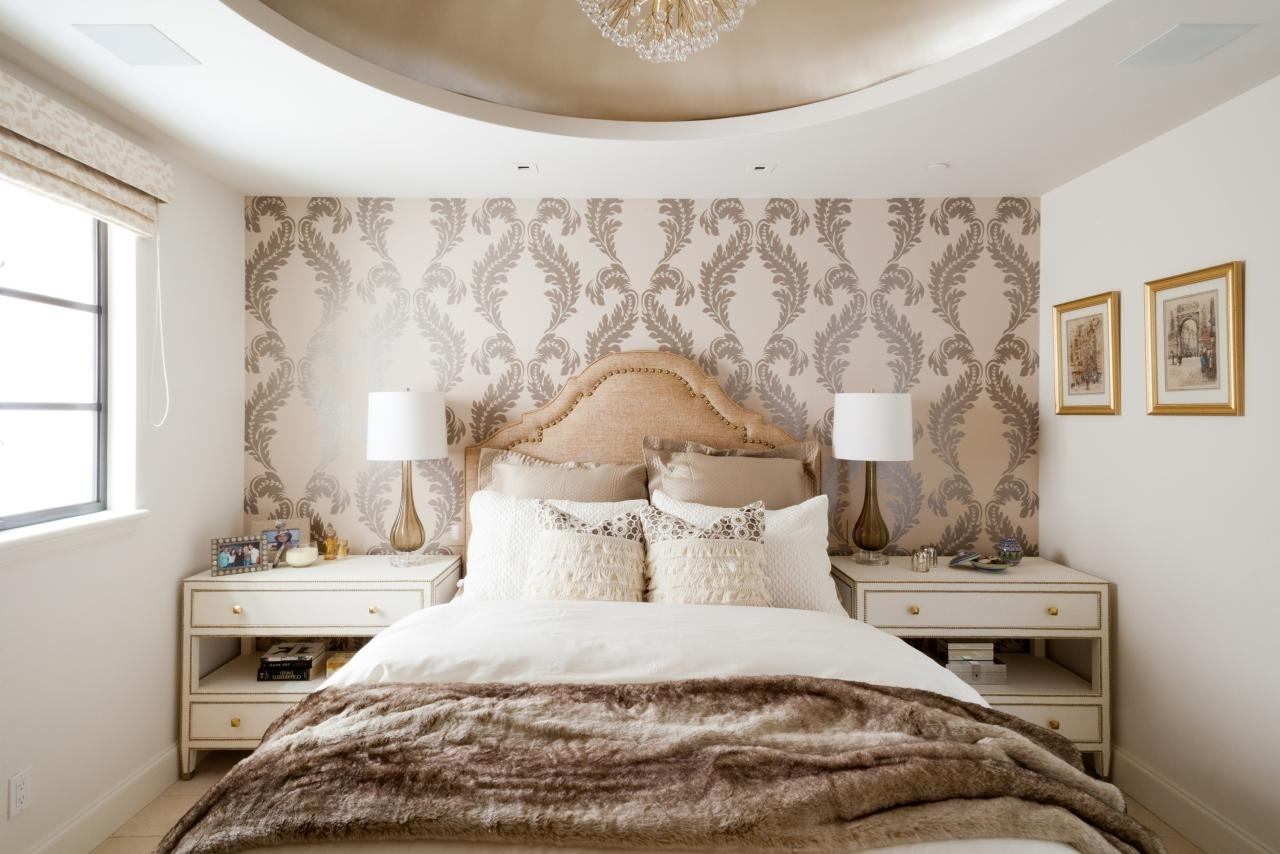 bedroom with accent wall 15 ideas of wallpaper bedroom wall accents 14473