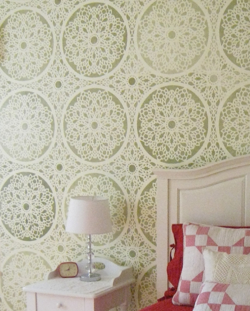 Wallpaper Wall Accents With Most Popular Bathroom Wall Stencil Ideas Bedroom Farmhouse With Decorative Wall (View 12 of 15)