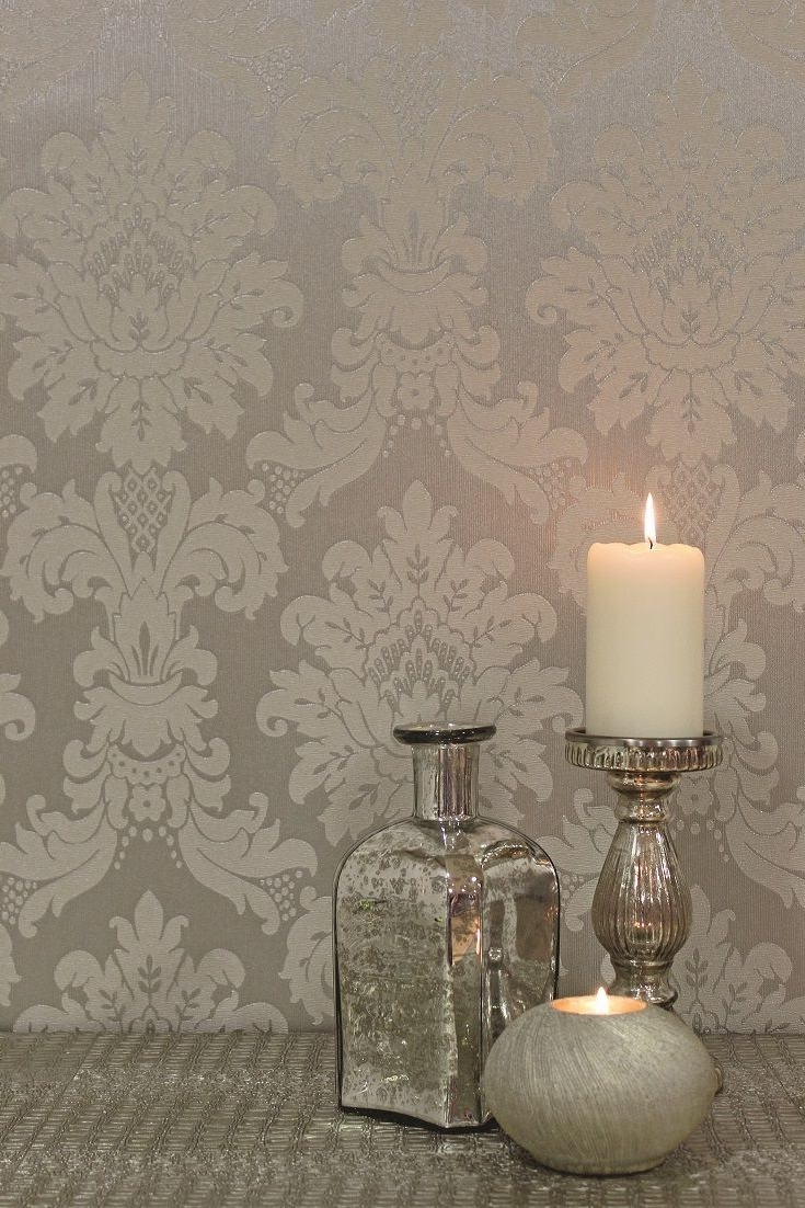 Wallpaper Wall Accents Within Most Current 40 Living Room Decorating Ideas (View 13 of 15)
