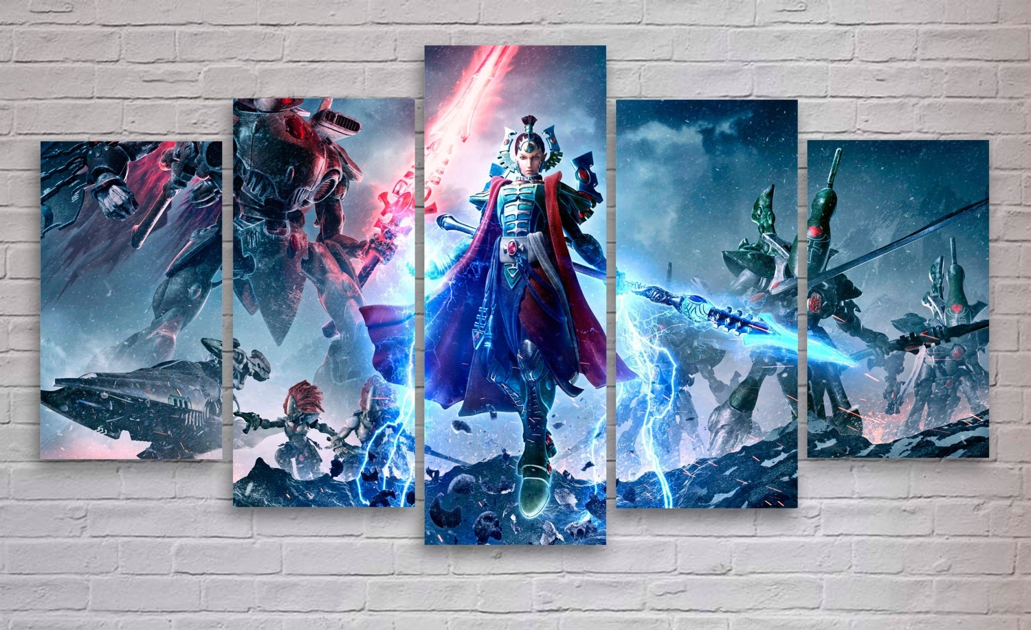 Warhammer – Dawn Of War Gaming 5 Panel / Piece Canvas – Wall Art Pertaining To Well Liked Gaming Canvas Wall Art (View 14 of 15)