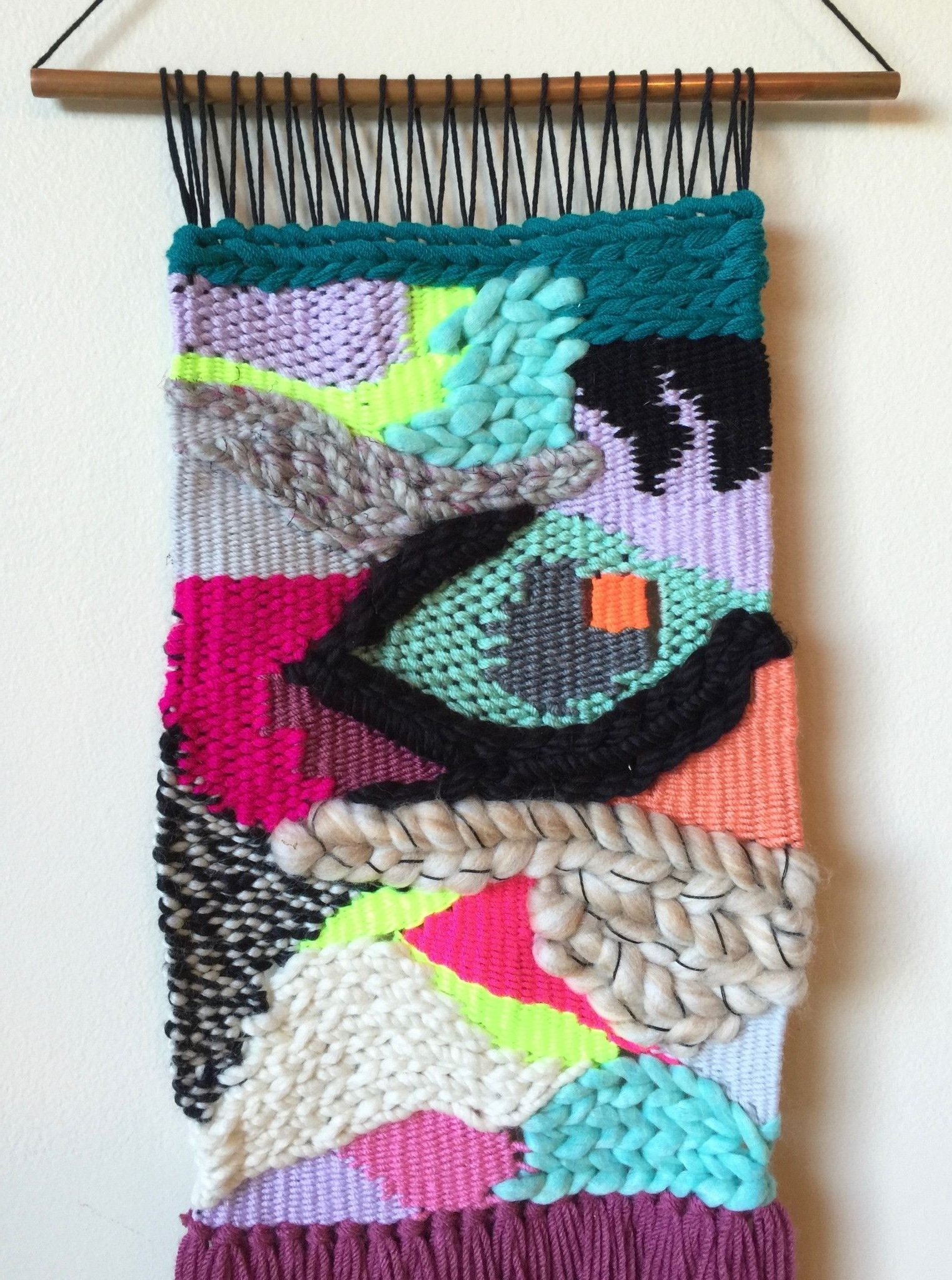 Weaving Woven Wall Hanging Fiber Art Textile Art (View 7 of 15)