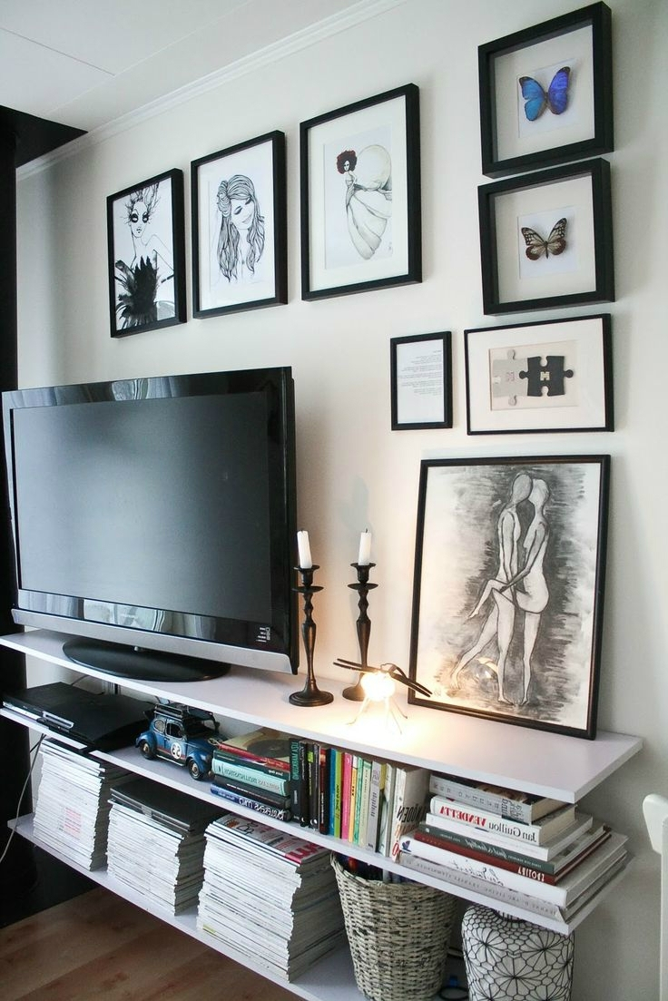 Well Known 40 Tv Wall Decor Ideas – Decoholic Pertaining To Wall Accents Behind Tv (View 15 of 15)