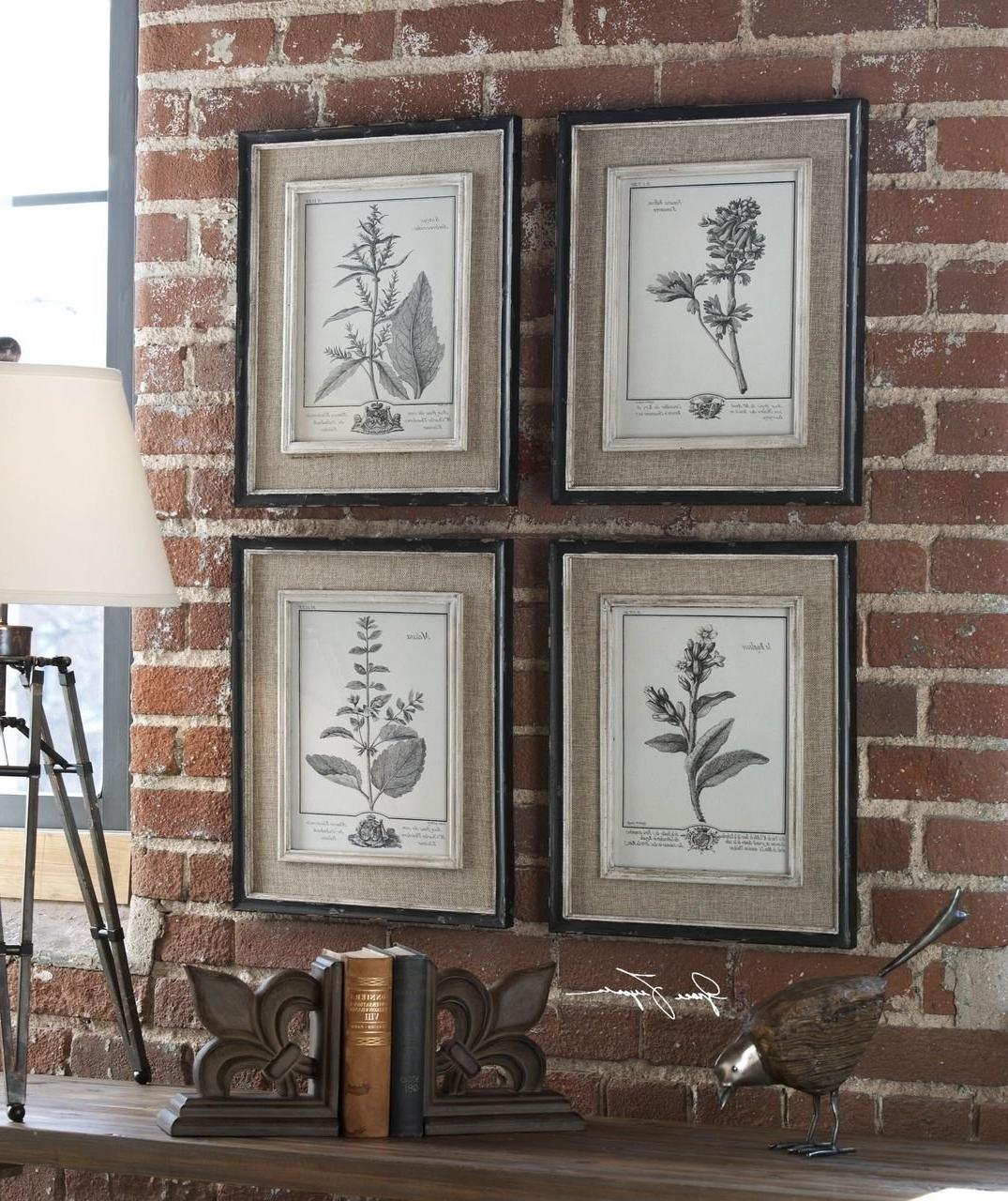 Well Known Amazon: Antique Style Botanical Wall Art Prints (View 14 of 15)