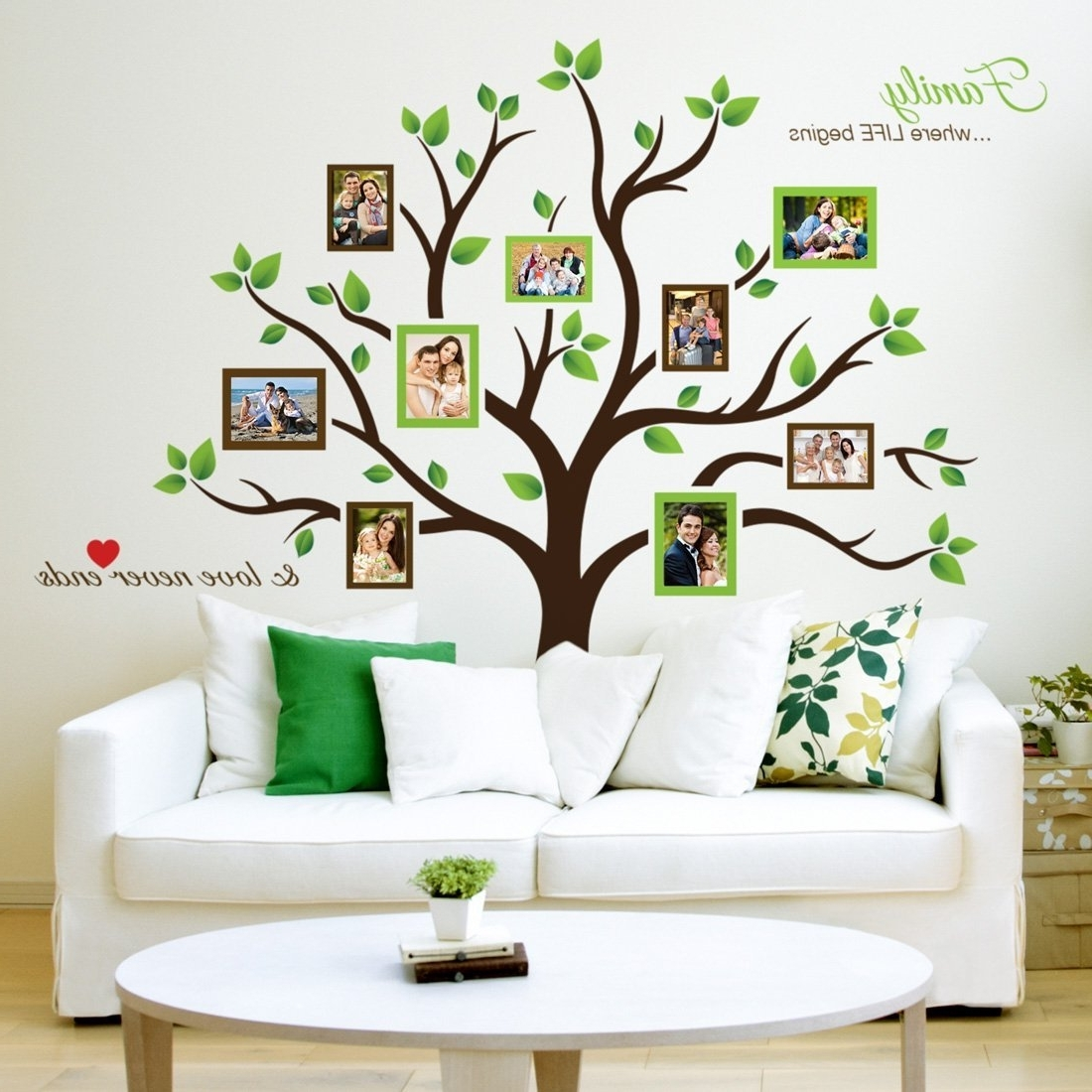 Well Known Amazon: Timber Artbox Large Family Tree Photo Frames Wall With Regard To Amazon Wall Accents (View 15 of 15)