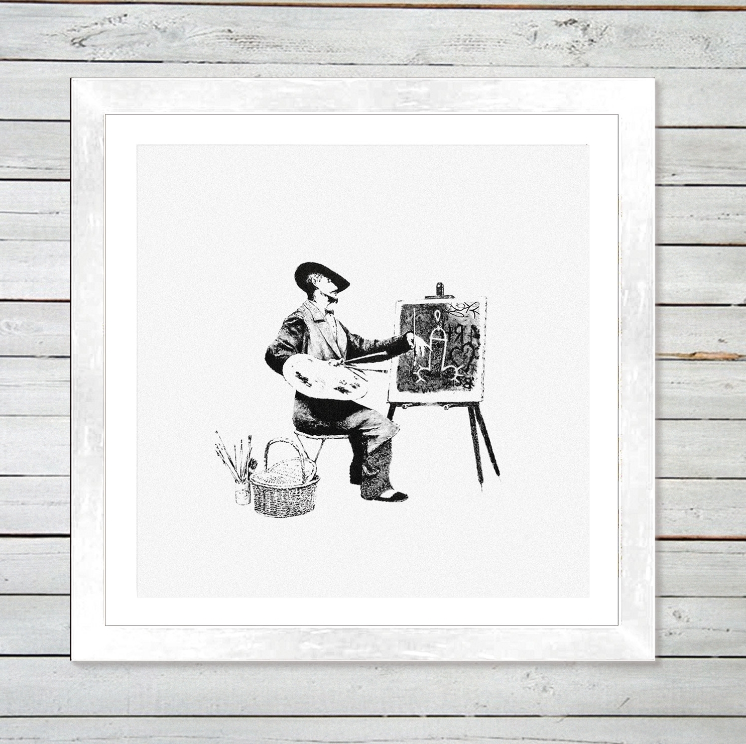 "Well Known Banksy  ""classic Artistry"" Framed Art Print – Graff (View 14 of 15)"