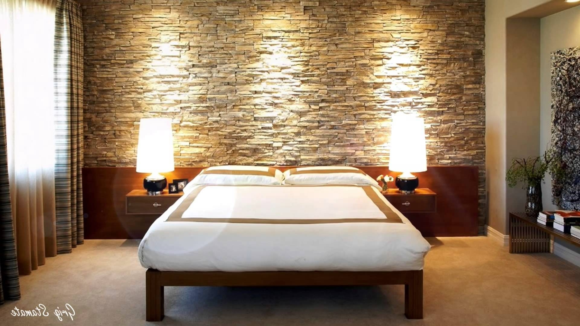 Well Known Bedrooms : Modern Accent Wall Accent Wallpaper Ideas 3d Accent Intended For Wallpaper Bedroom Wall Accents (View 4 of 15)