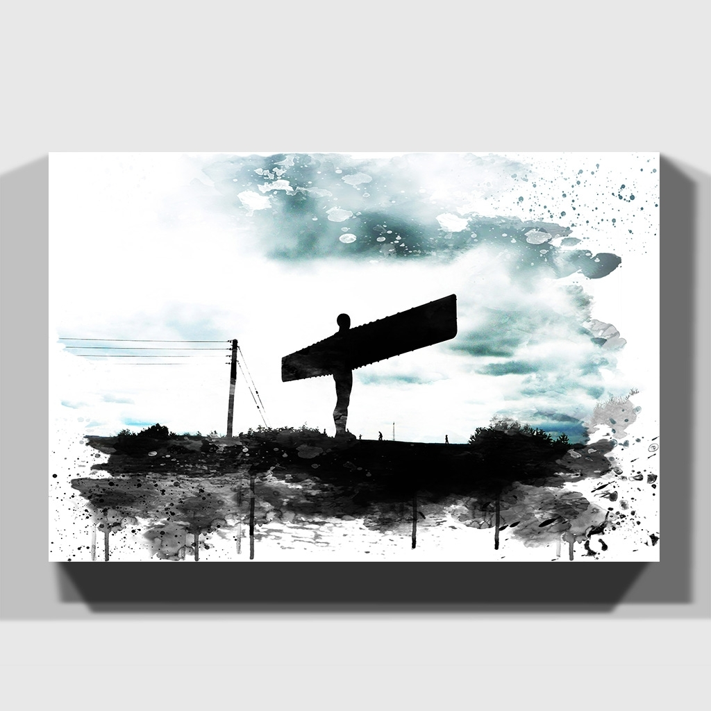 Well Known Canvas Print Various Size Wall Art Angel Of The North Newcastle 4 Inside Newcastle Canvas Wall Art (View 6 of 15)