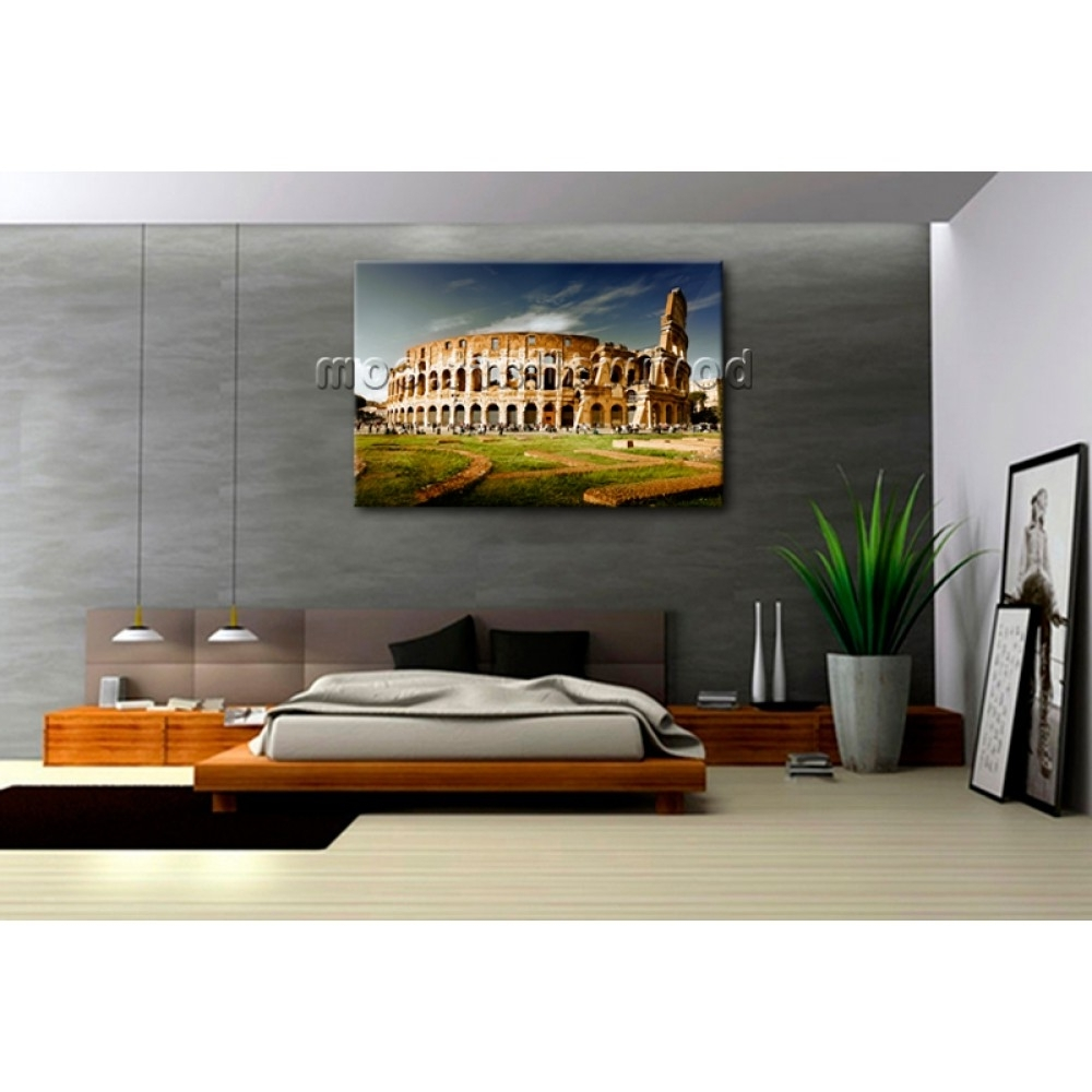 Well Known Canvas Wall Art Of Rome Throughout Rome Colosseum Large Landscape Picture Canvas Wall Art Print World (View 15 of 15)