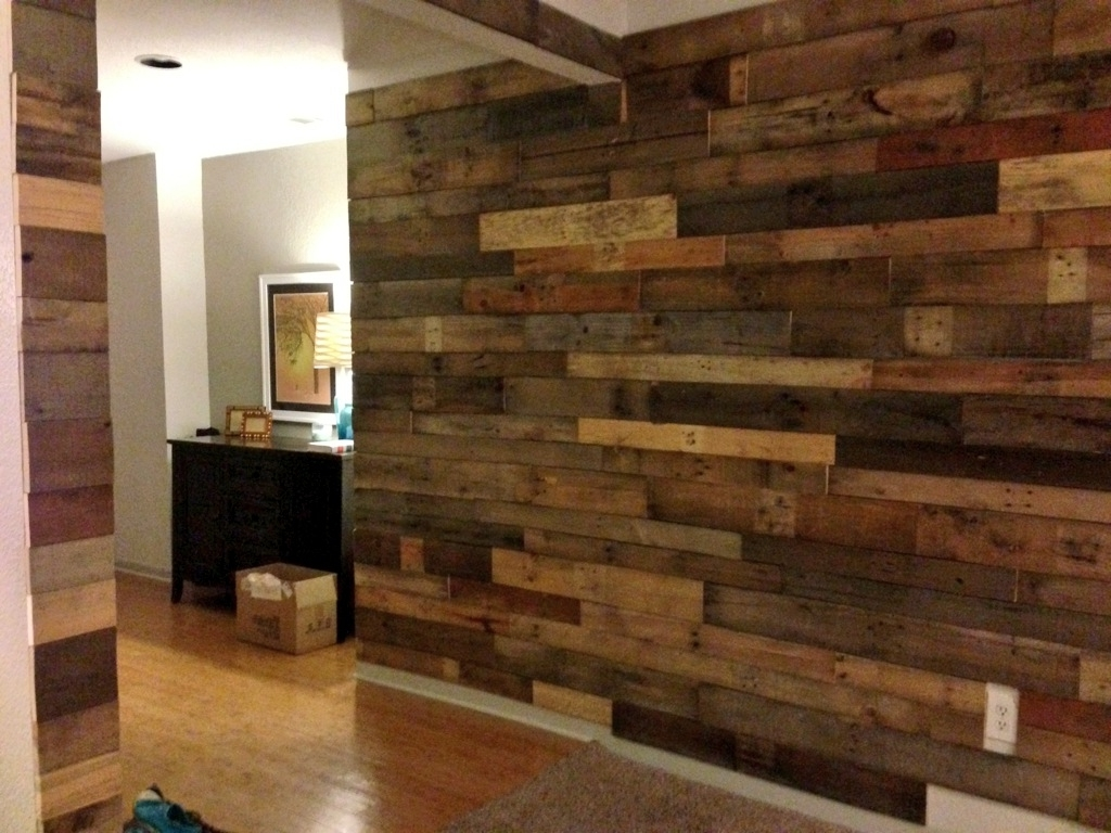 Well Known Car Wait To Do Our Pallet Wall! Alex's Needs To Get On It With Wood Pallets Wall Accents (View 14 of 15)