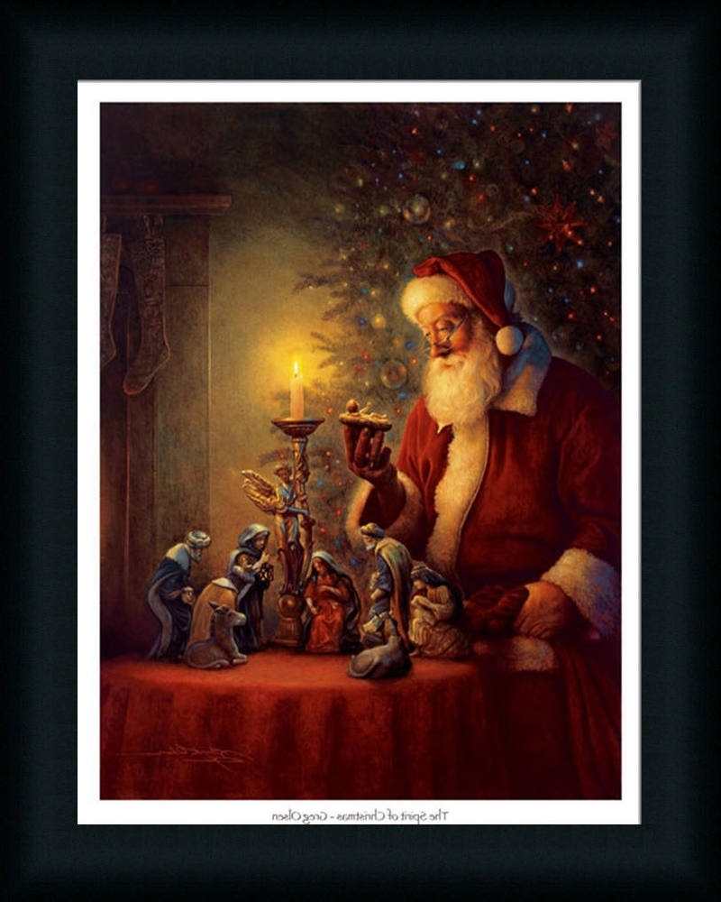 Well Known Christmas Framed Art Prints For The Spirit Of Christmas Nativity Scene Framed Art Print Wall Décor (View 15 of 15)