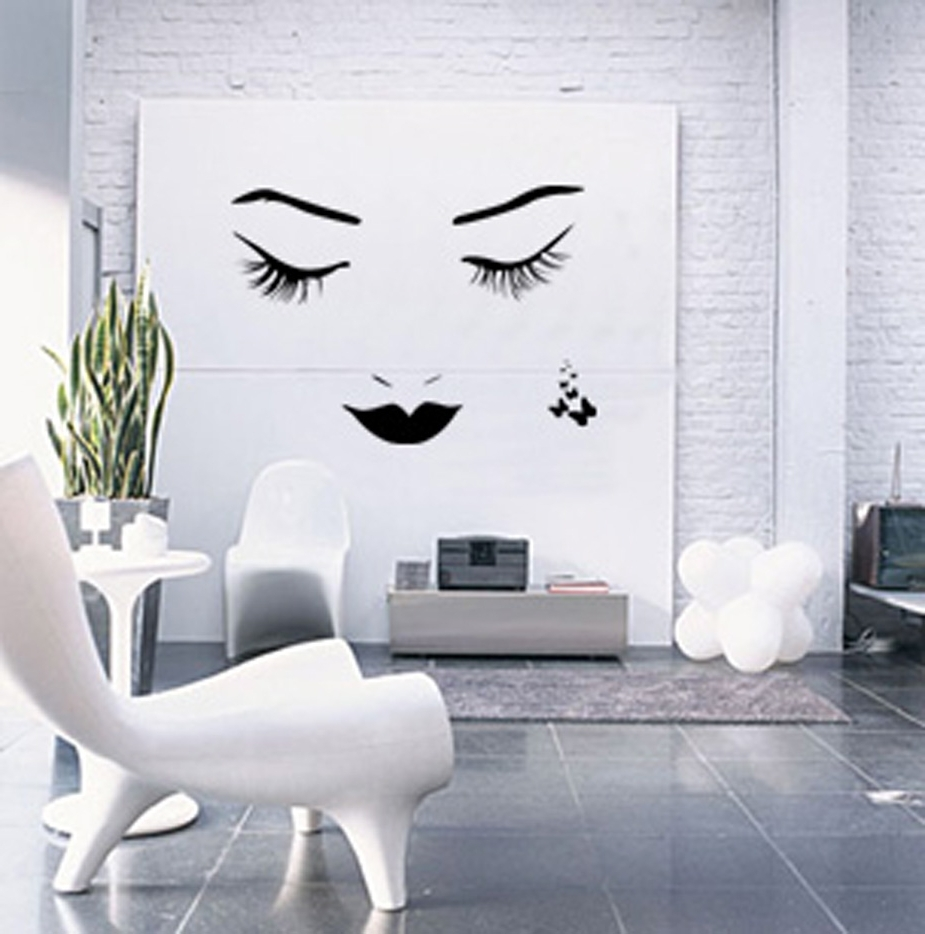 Well Known Decorations : White Rustic Interior Room Alongside White Inside Wall Accent Decals (View 6 of 15)