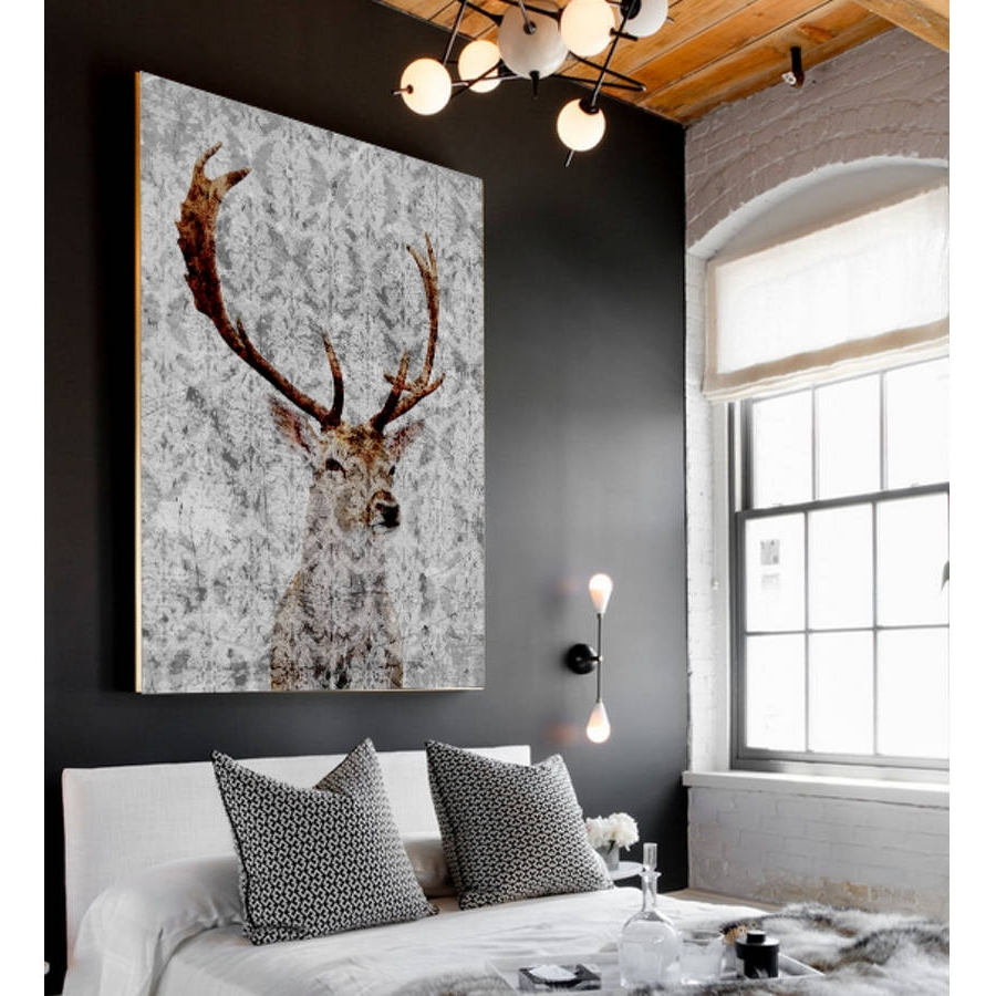 Well Known Deer Canvas Wall Art Within Highlands Stag Canvas Artpalm Valley (View 2 of 15)