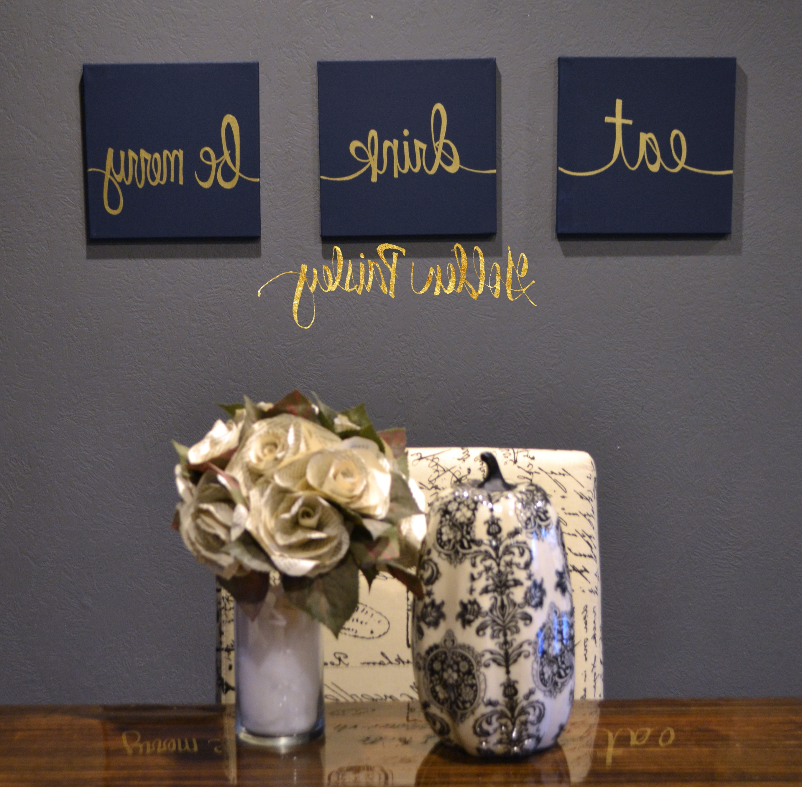 Well Known Eat Canvas Wall Art Intended For Navy Wall Decor Choice Image – Wall Design Ideas (View 15 of 15)