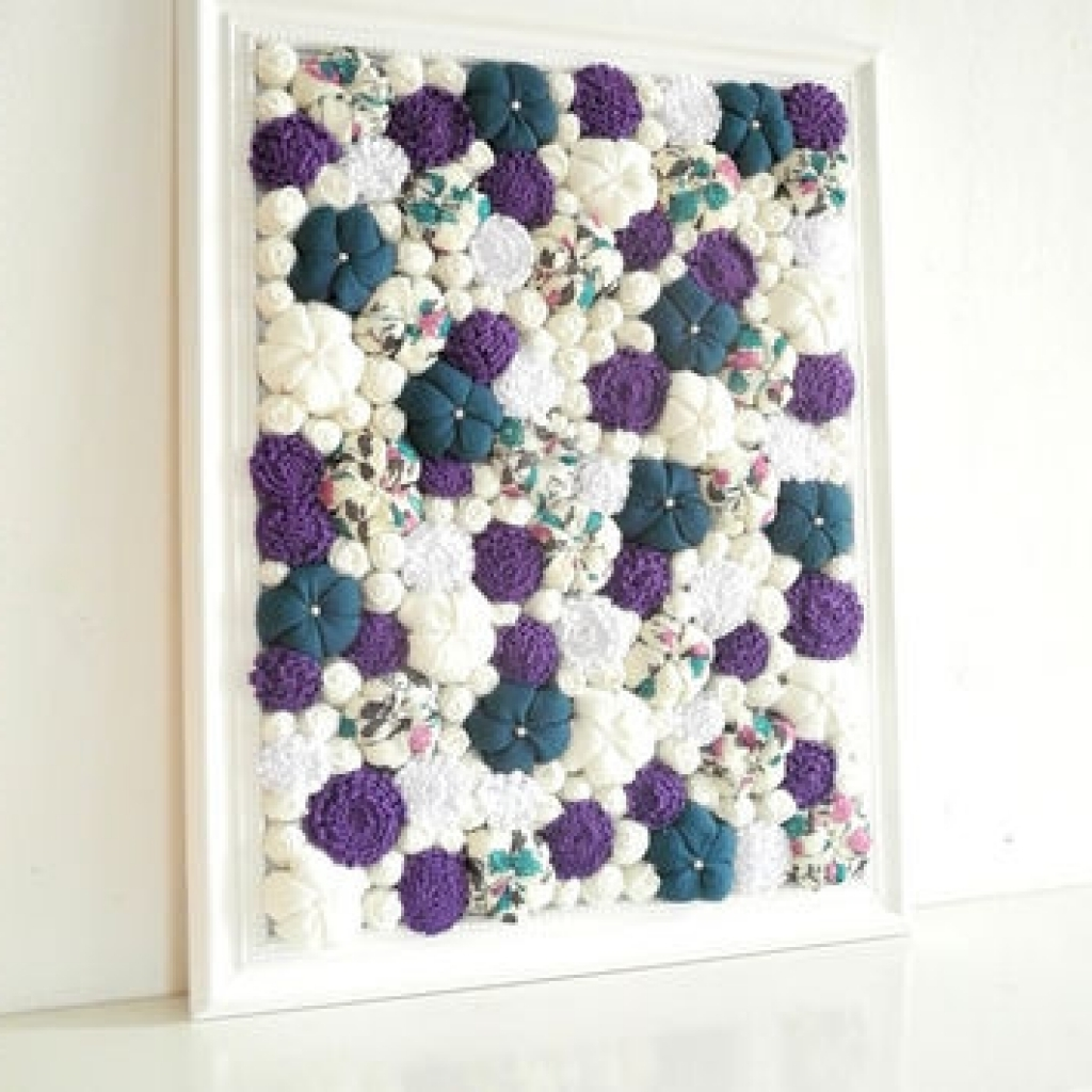 Well Known Flower Wall Art Decor Marvelous 3d Flower Wall Decor 5 Fabric Wall In Fabric Flower Wall Art (View 2 of 15)