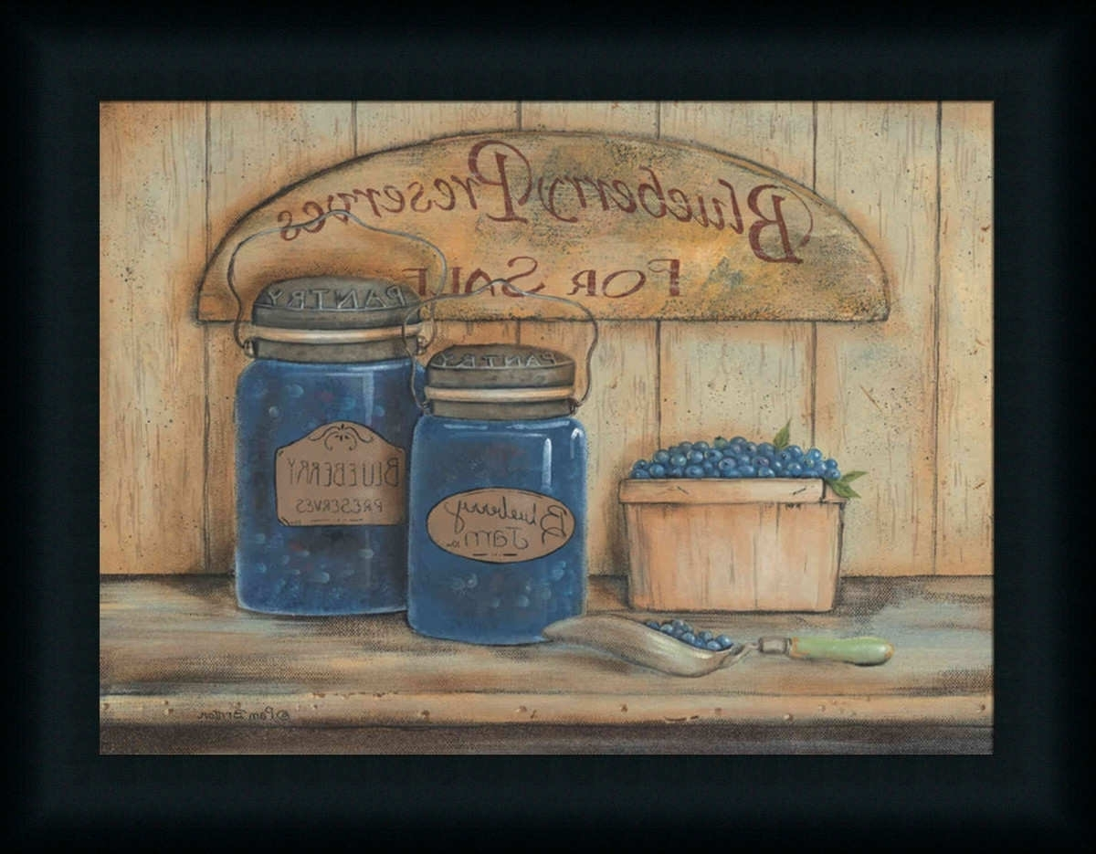 Well Known Framed Country Art Prints With Regard To Blueberry Preserves For Salepam Britton – Art Print Framed (View 13 of 15)