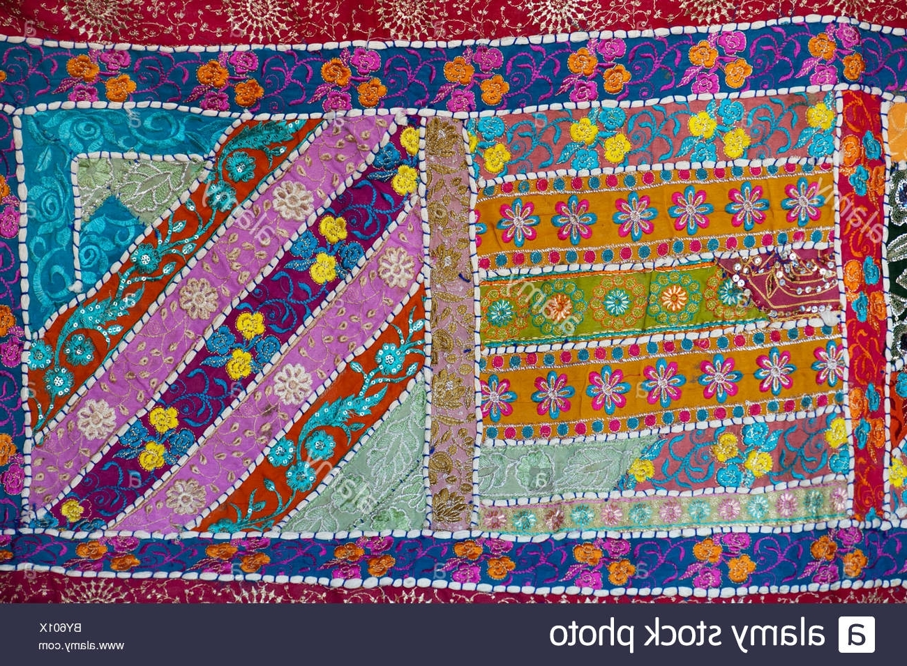 Well Known Indian Fabric Wall Art For Multicoloured Indian Fabric Wall Hanging (View 12 of 15)
