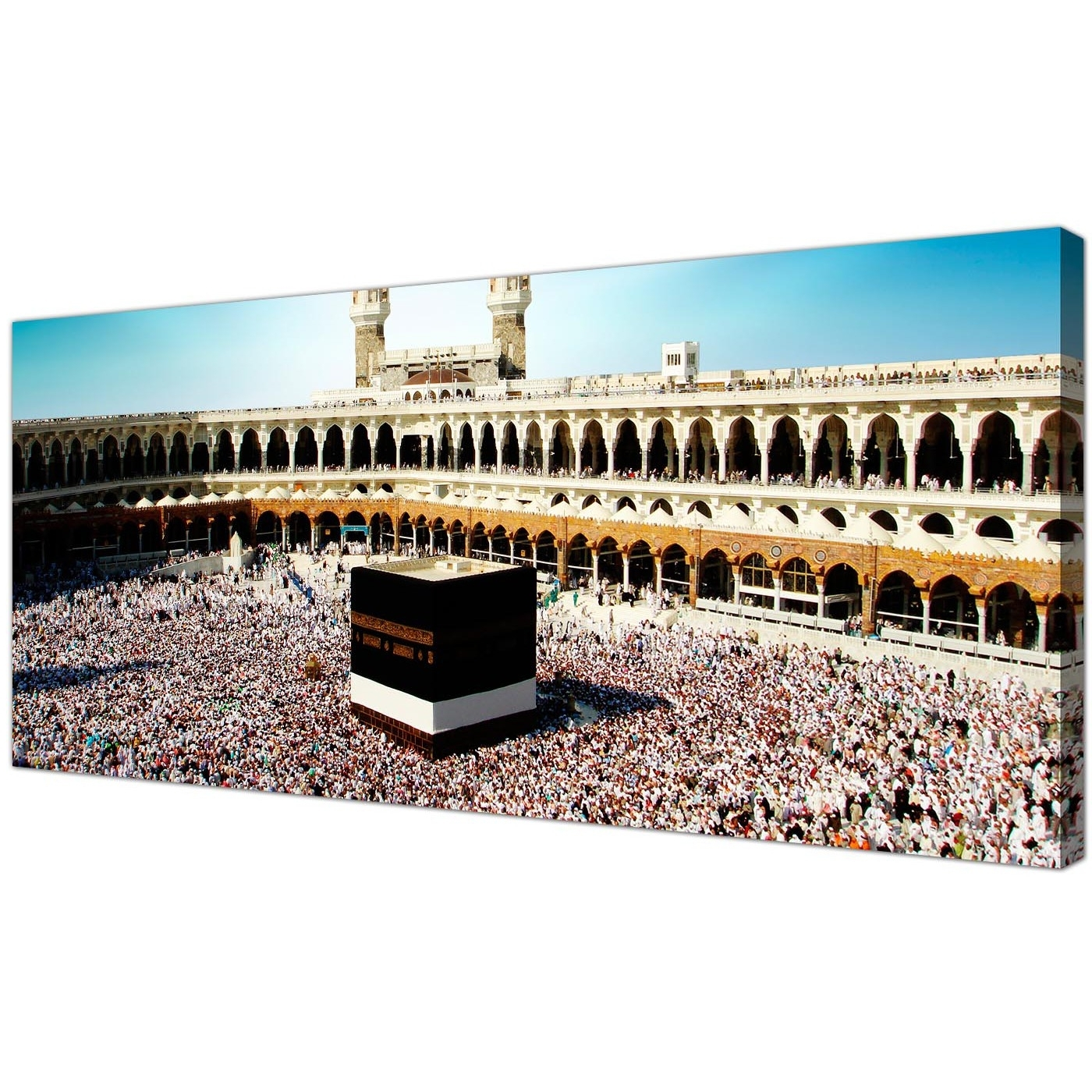 Well Known Islamic Canvas Wall Art With Cheap Islamic Canvas Wall Art Prints Of Muslim Pilgrimage To Mecca (View 6 of 15)