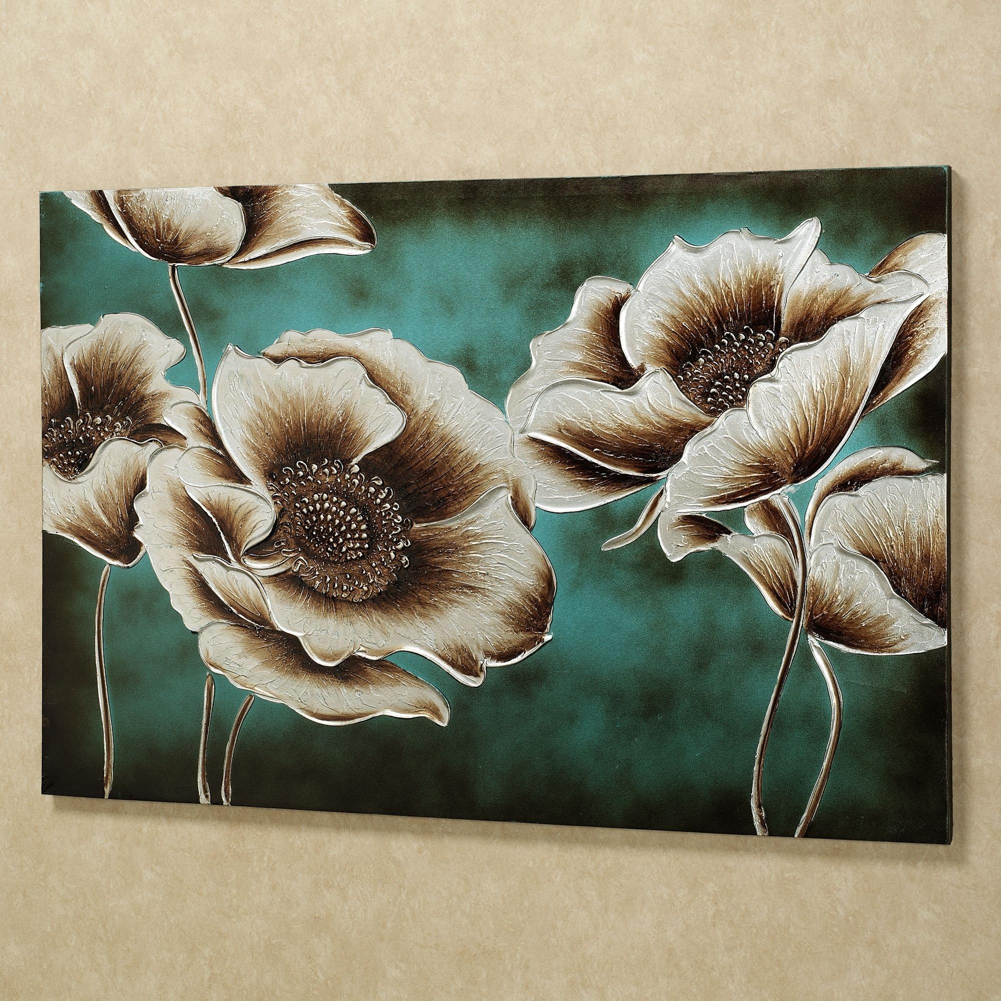 Well Known Jardin De Pavot Poppy Flower Canvas Wall Art (View 2 of 15)