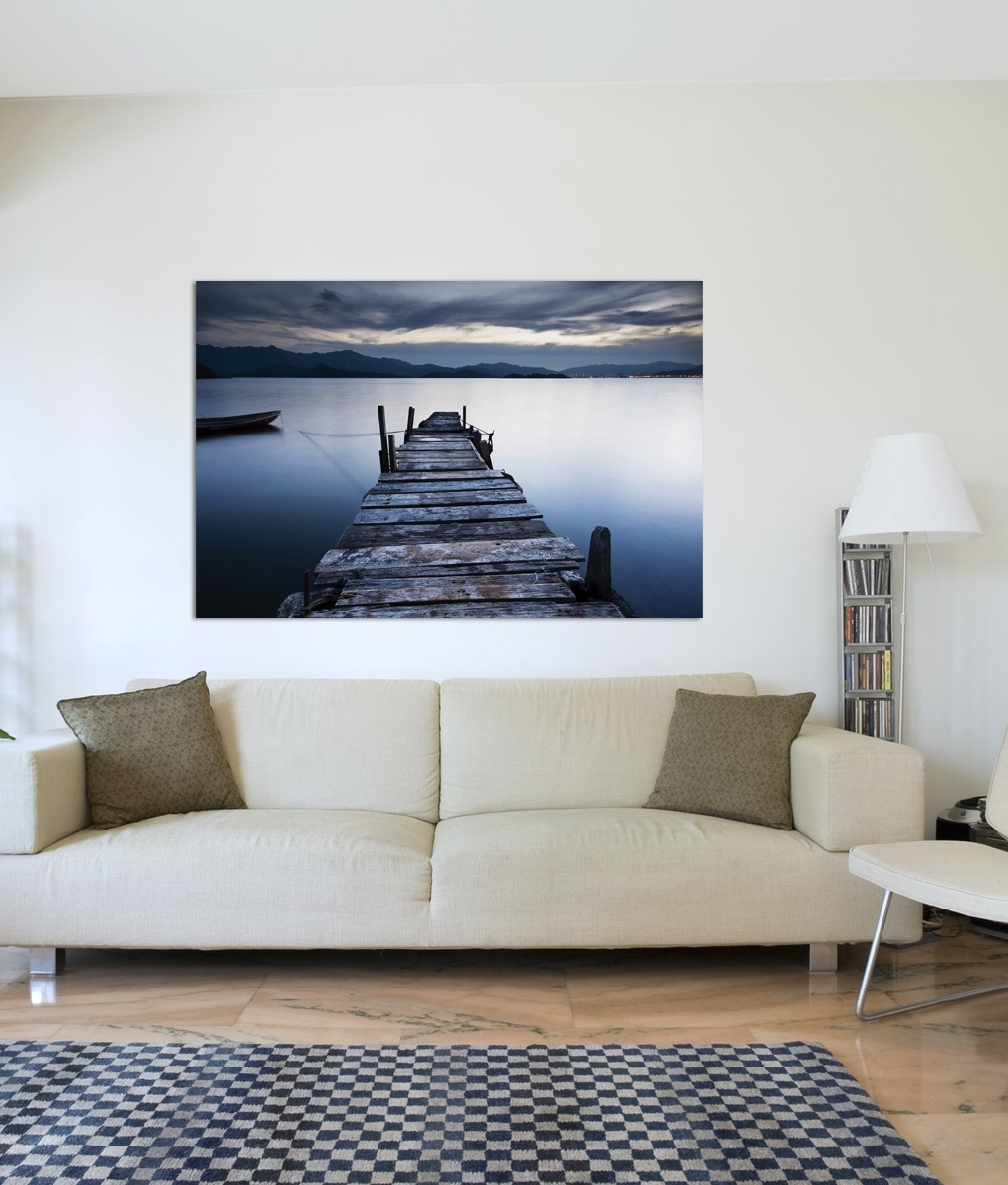 Well Known Jetty Canvas Wall Art Inside Evening Blue Jetty (View 3 of 15)