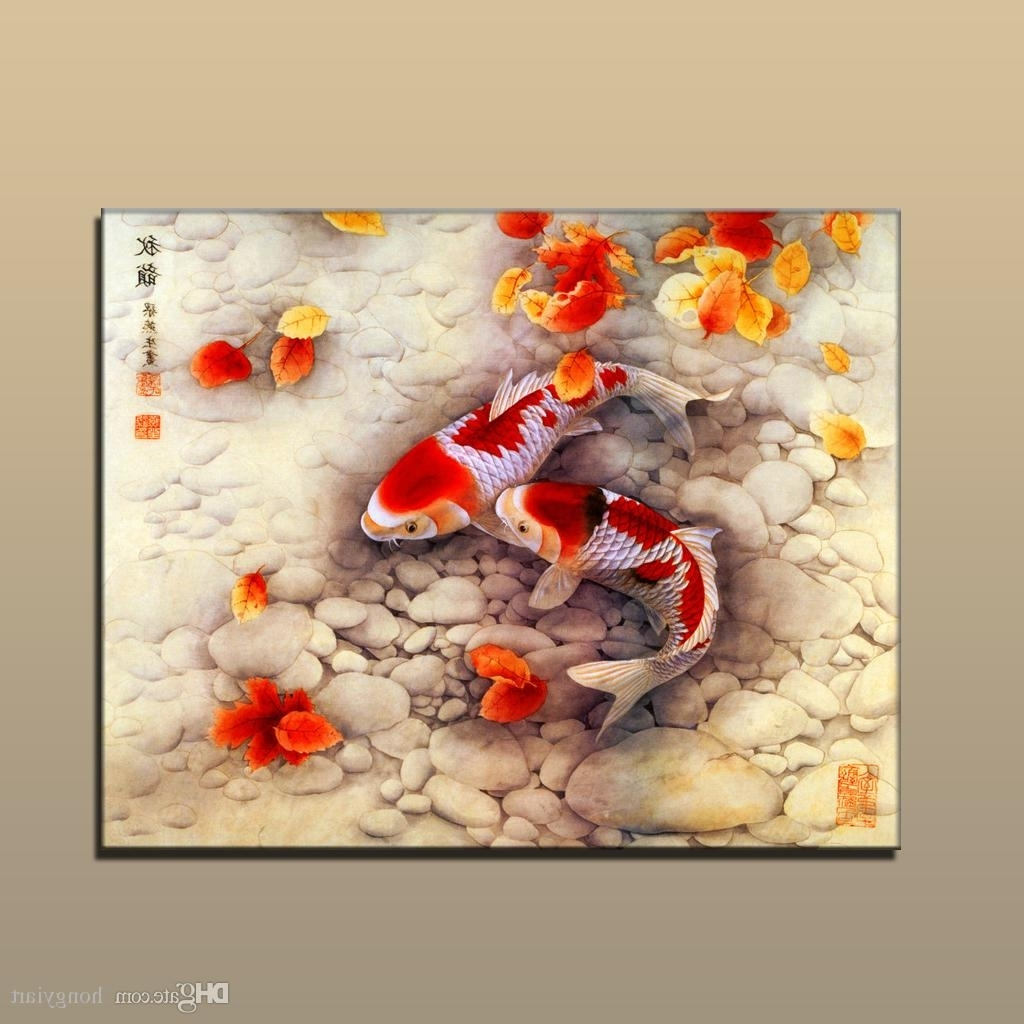 Well Known Koi Canvas Wall Art Inside 2018 Modern Home Art Wall Decor Prints Art China's Wind Feng Shui (View 14 of 15)