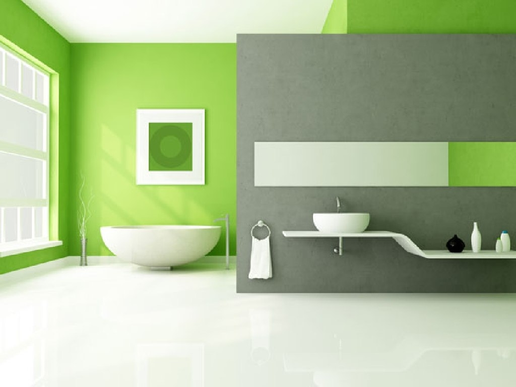 Well Known Lime Green Accents Wall Paint For Modern Bathroom Idea Combine For Green Wall Accents (View 14 of 15)