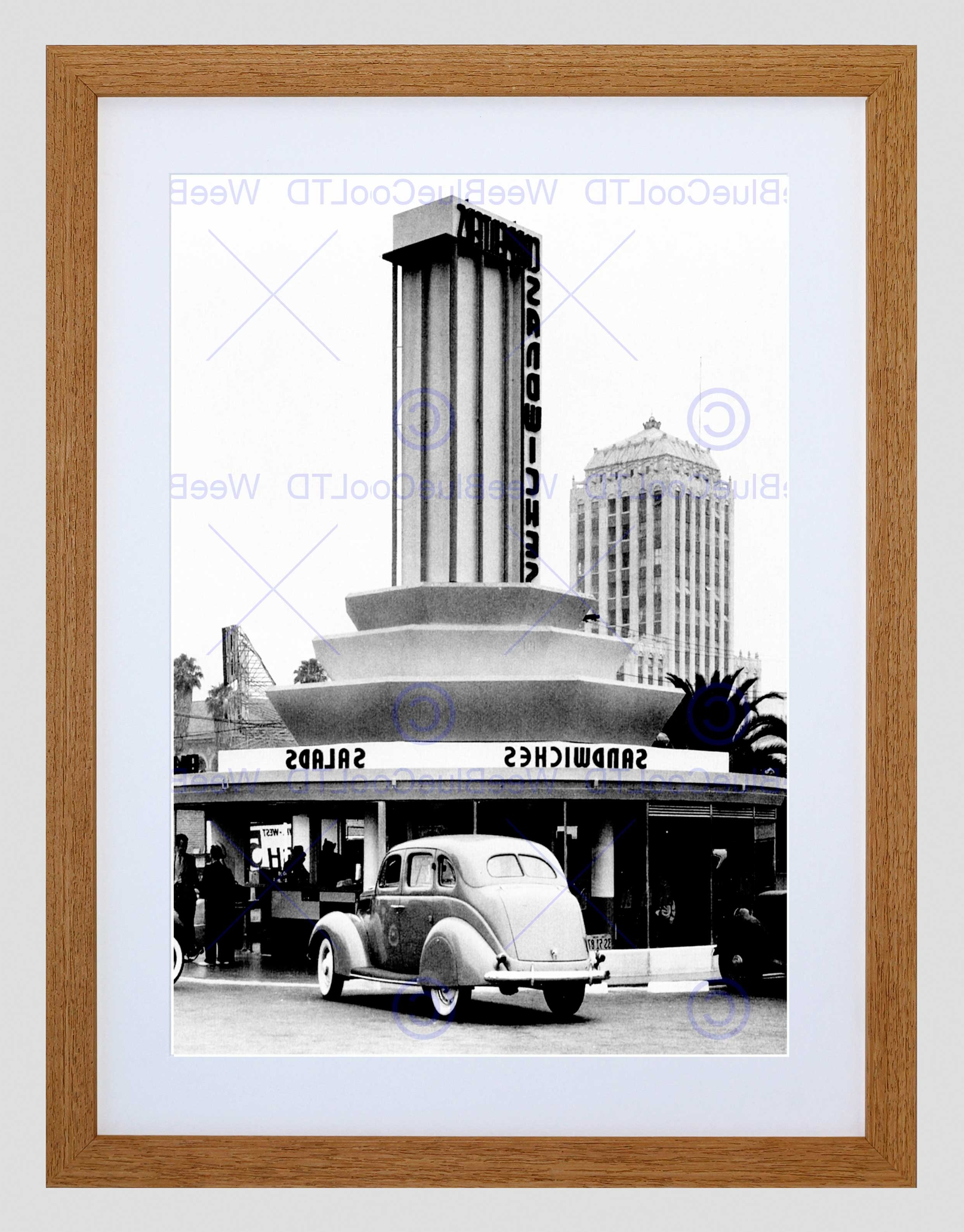 Well Known Los Angeles Framed Art Prints With Regard To Vintage Sandwich Shop Los Angeles California Usa Framed Art Print (View 13 of 15)