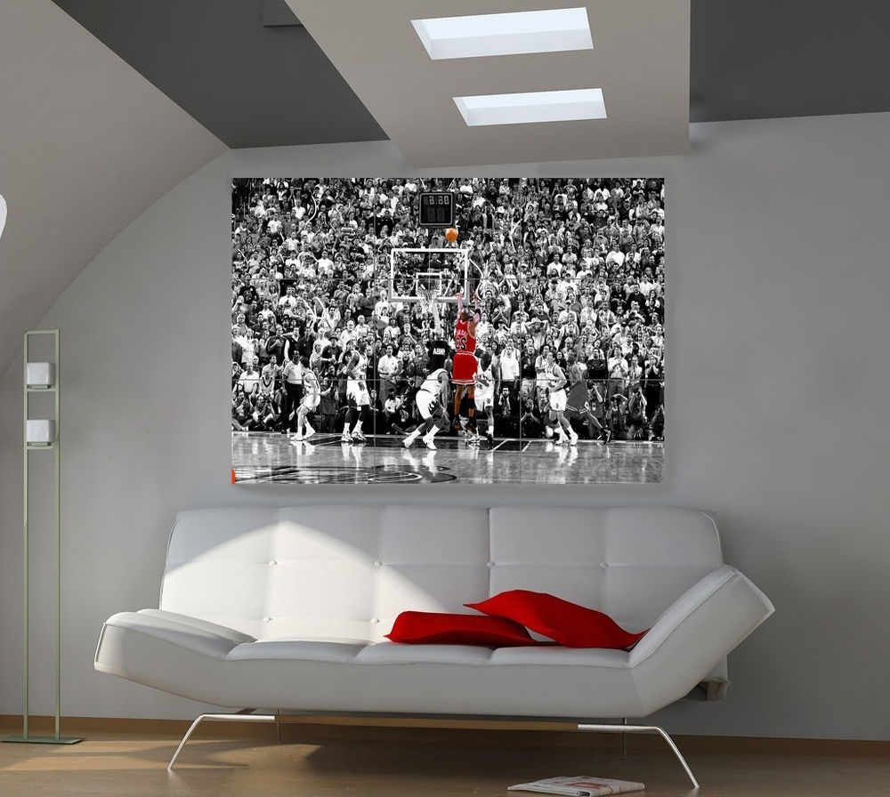 Well Known Michael Jordan Canvas Wall Art Intended For Michael Jordan Art (Gallery 5 of 15)