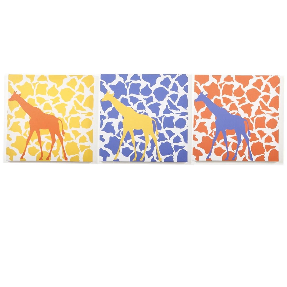 Well Known Modern Littles – Rusty Giraffe – Canvas Wall Art – 3 Pc (View 15 of 15)