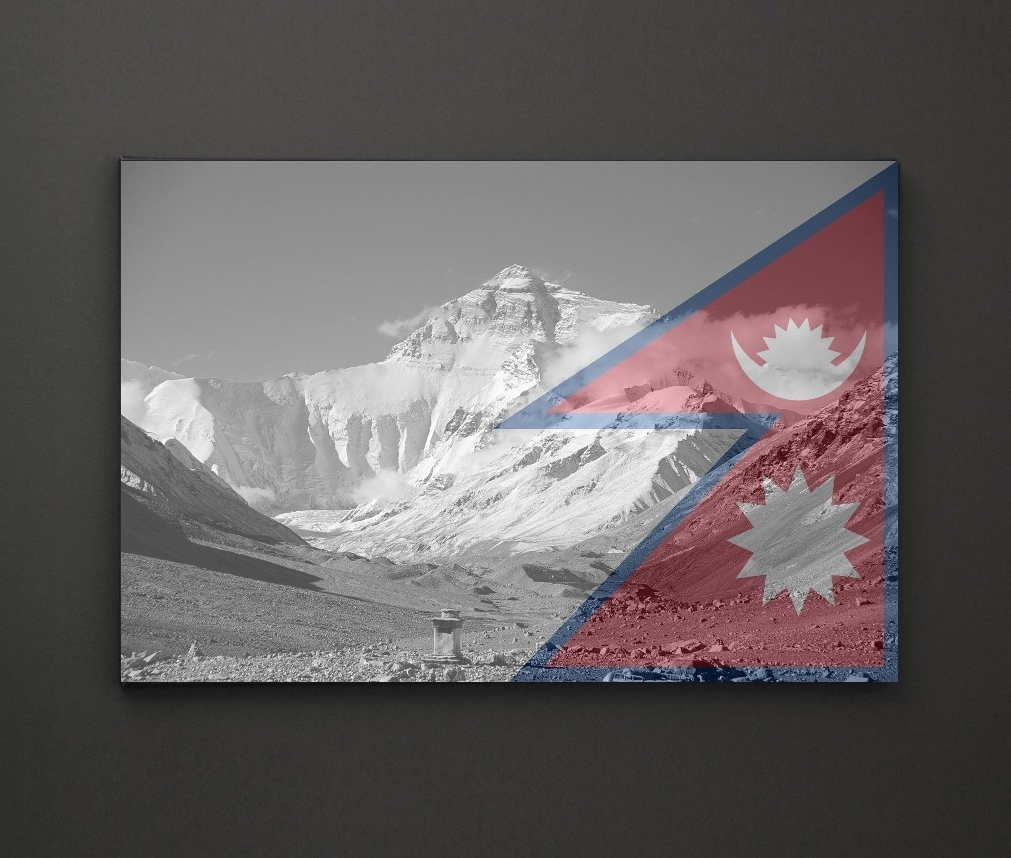 Well Known Mount Everest Nepal Flag A4 Framed/box Canvas A4 A3 A2 A1 Gift With Regard To Leadgate Canvas Wall Art (View 9 of 15)