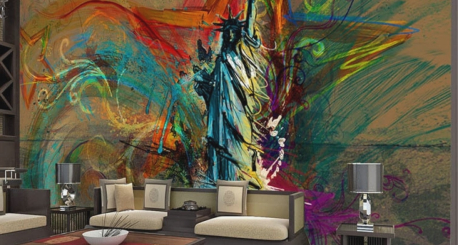 Well Known Murals Canvas Wall Art For Classy Idea Funky Wall Art With Mural Awesome Office Ideas Murals (View 15 of 15)