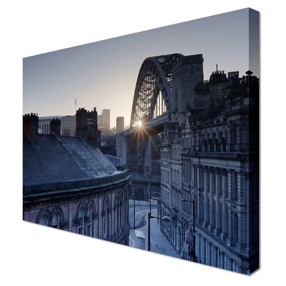 Well Known Newcastle Canvas Wall Art Throughout Quayside Newcastle Upon Tyne Art Print Pictures Canvas Wall Art (View 8 of 15)