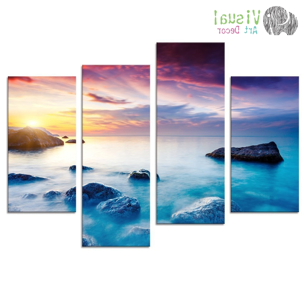 Well Known Ocean Canvas Wall Art Intended For Seascape Canvas Wall Art Rock Sea Pictures Canvas Prints Wall Art (View 2 of 15)