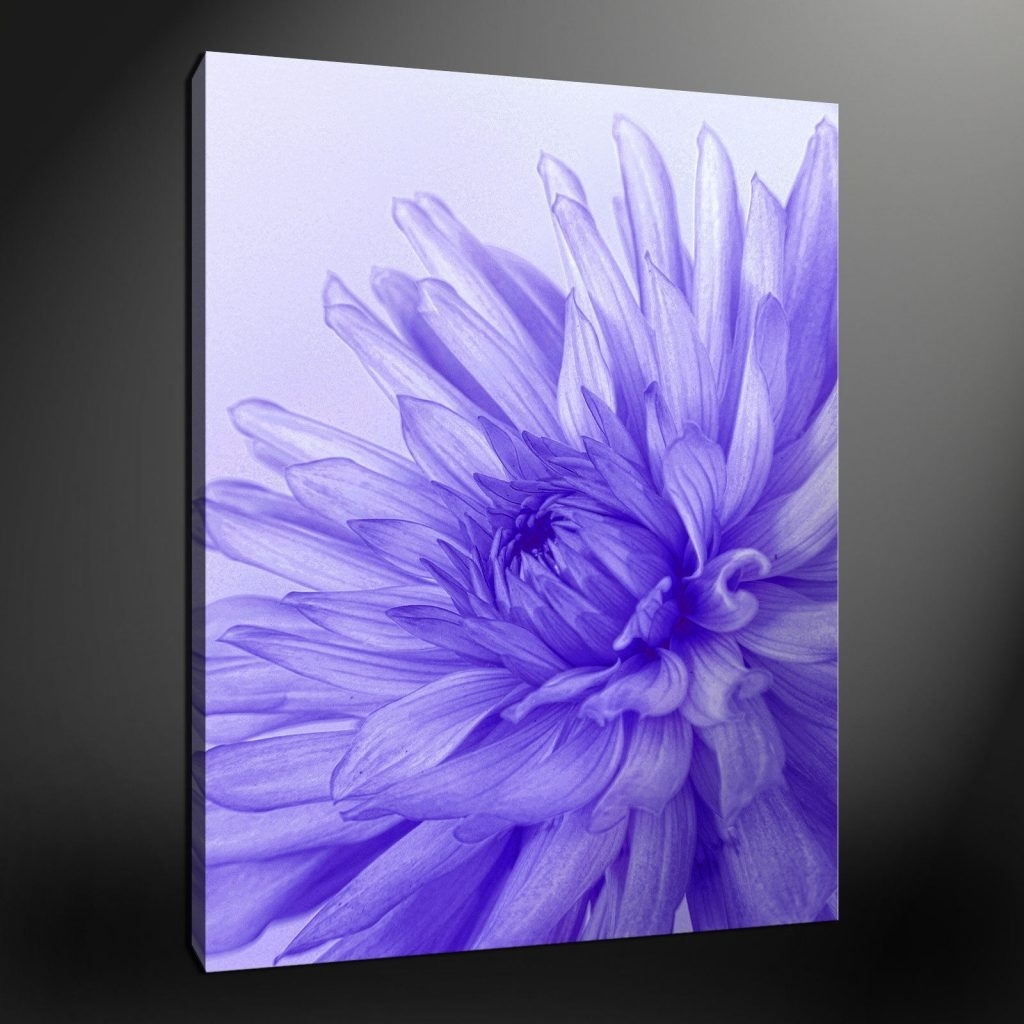 Well Known Purple Flowers Canvas Wall Art With Regard To Lovely Ideas Purple Flower Wall Art Together With 16 Canvas (View 4 of 15)