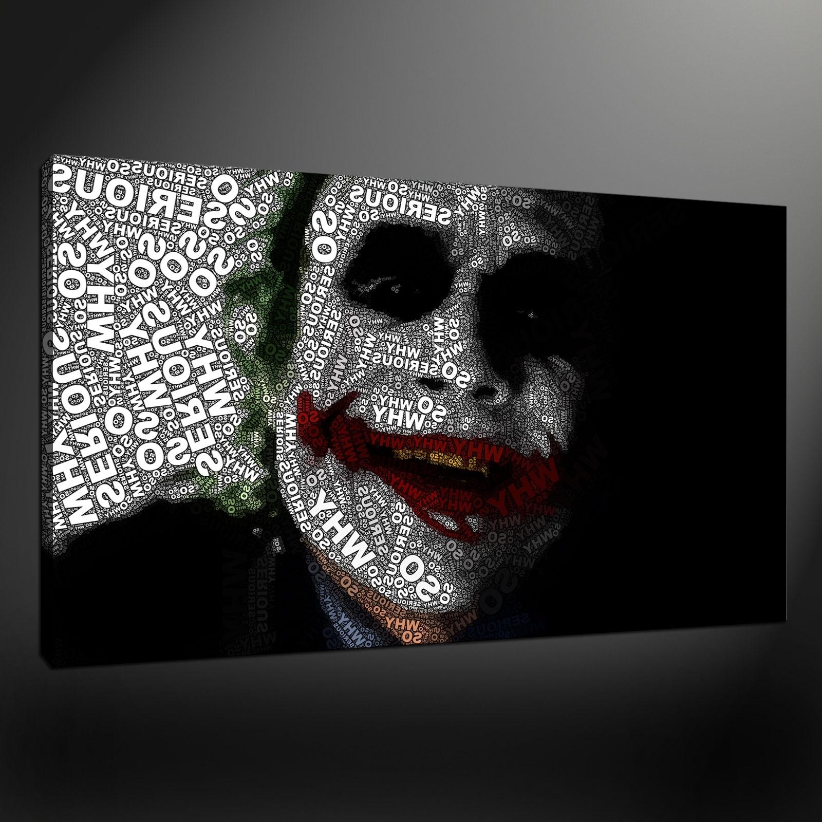 Well Known Quality Canvas Print Art Regarding Joker Canvas Wall Art (View 6 of 15)
