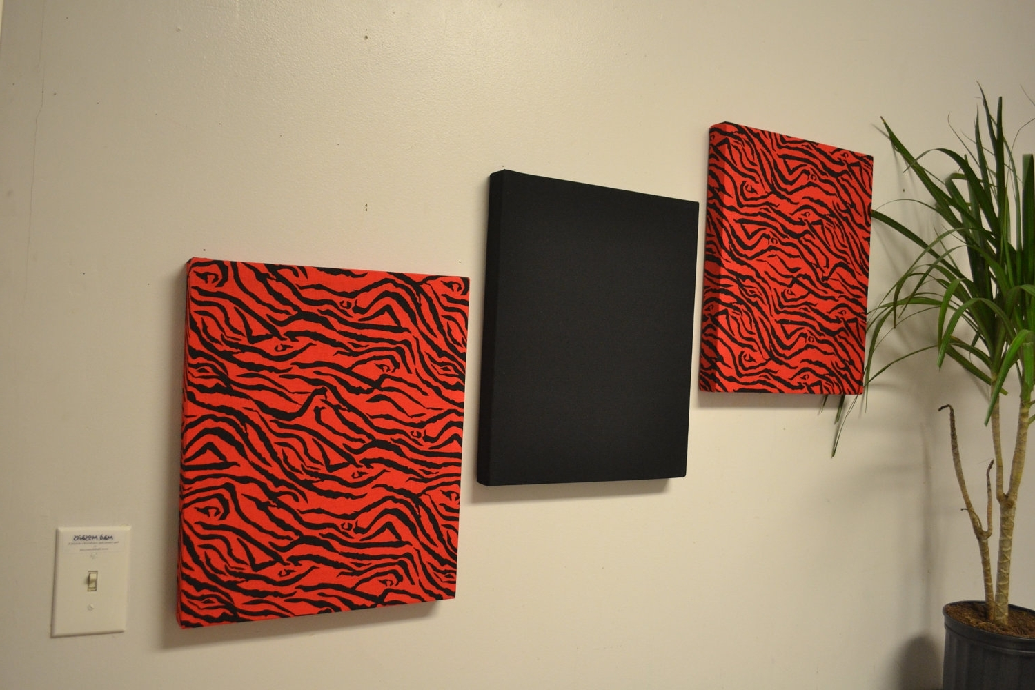 Well Known Red Fabric Wall Art Throughout Fabric For Wall Spectacular Red Wall Decoration – Wall Art And (View 14 of 15)
